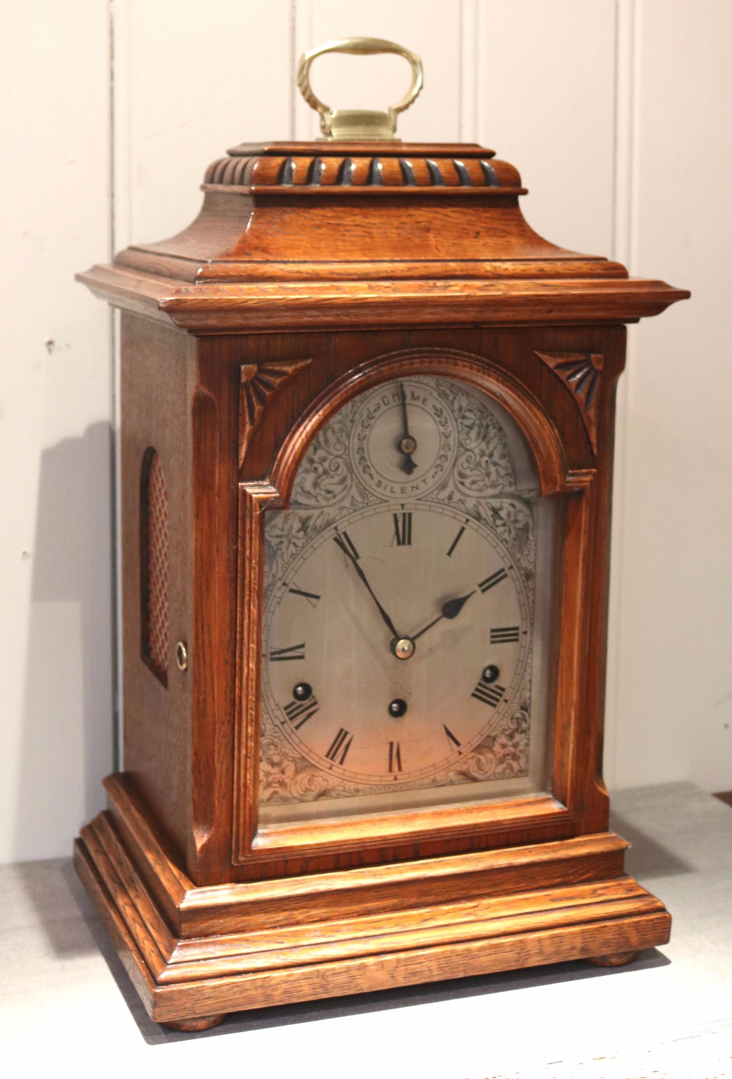 Oak Westminster Chime Bracket Clock (germany, C. 1910 ...