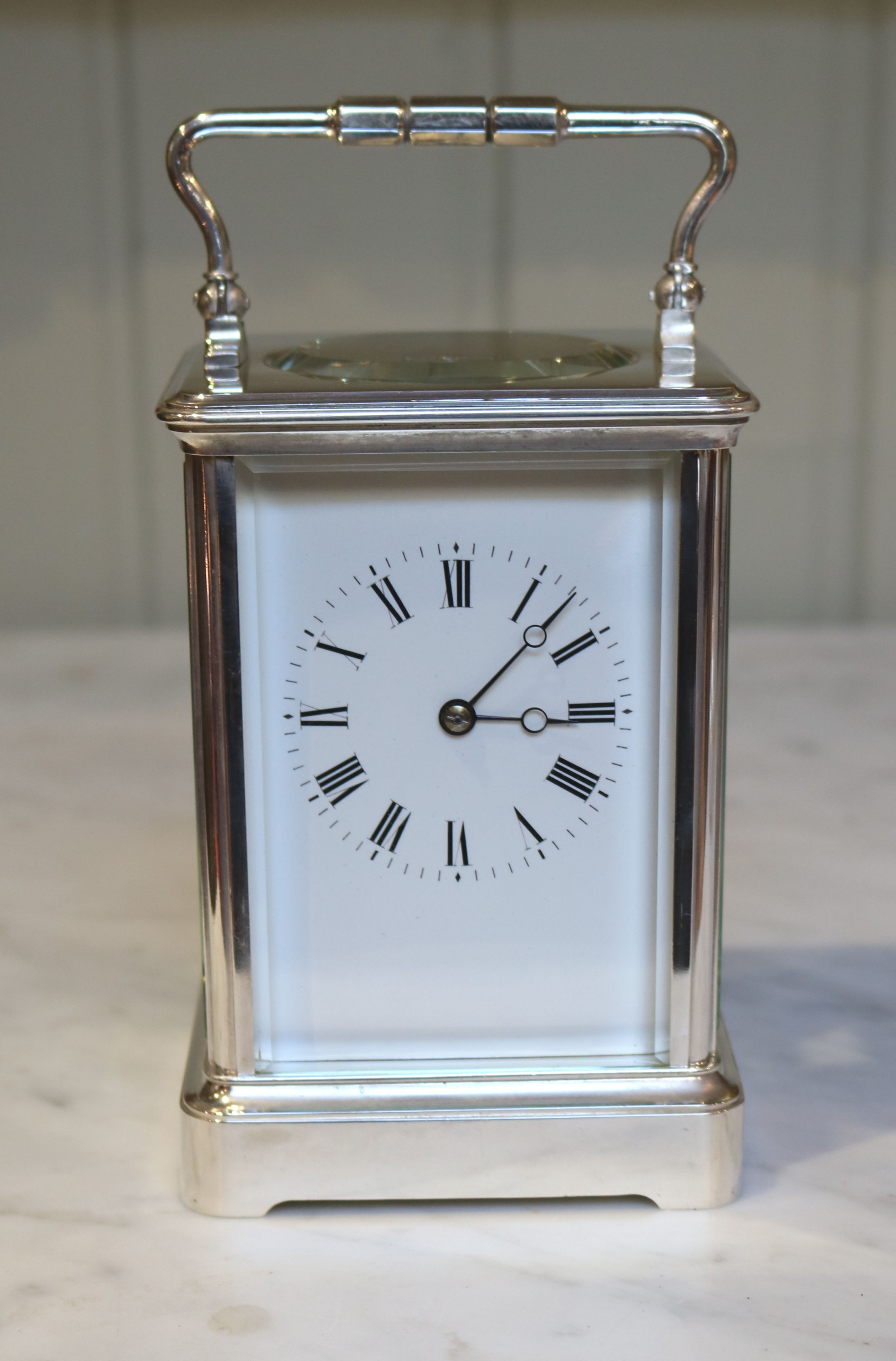 large silver plated french carriage clock france c 1890