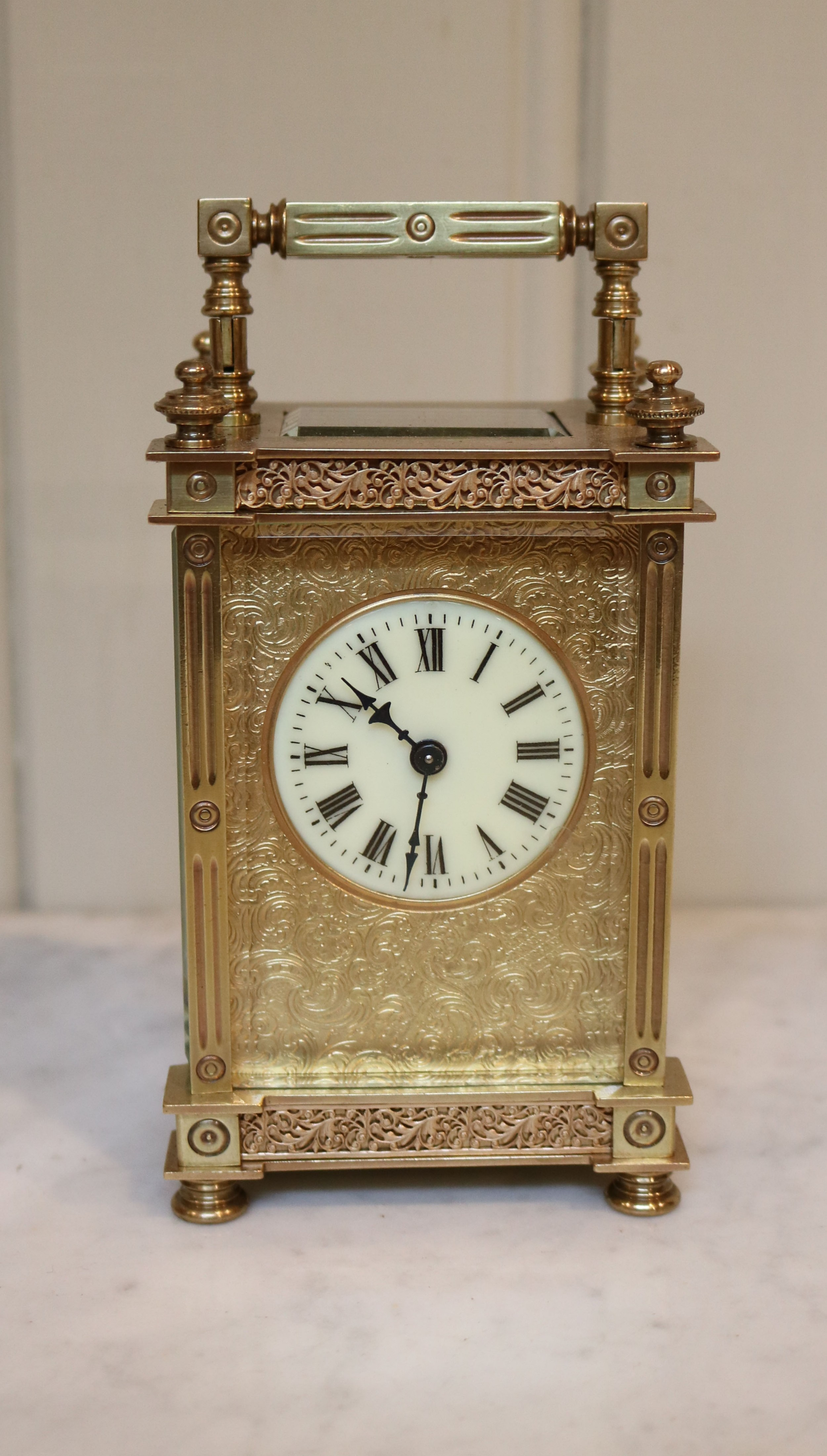 ornate french timepiece carriage clock france 1900 to 1910