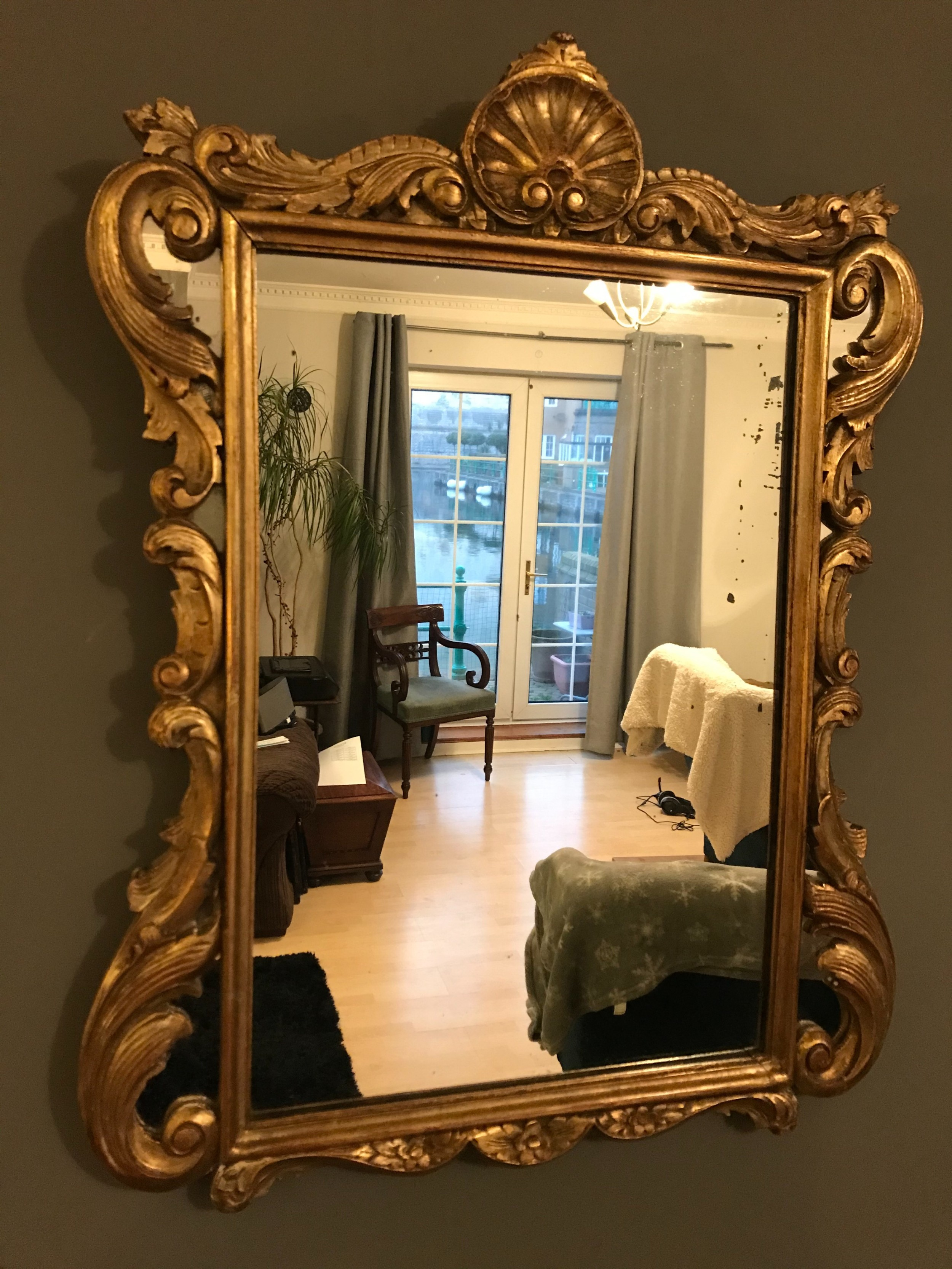 gilt mirror 19th century