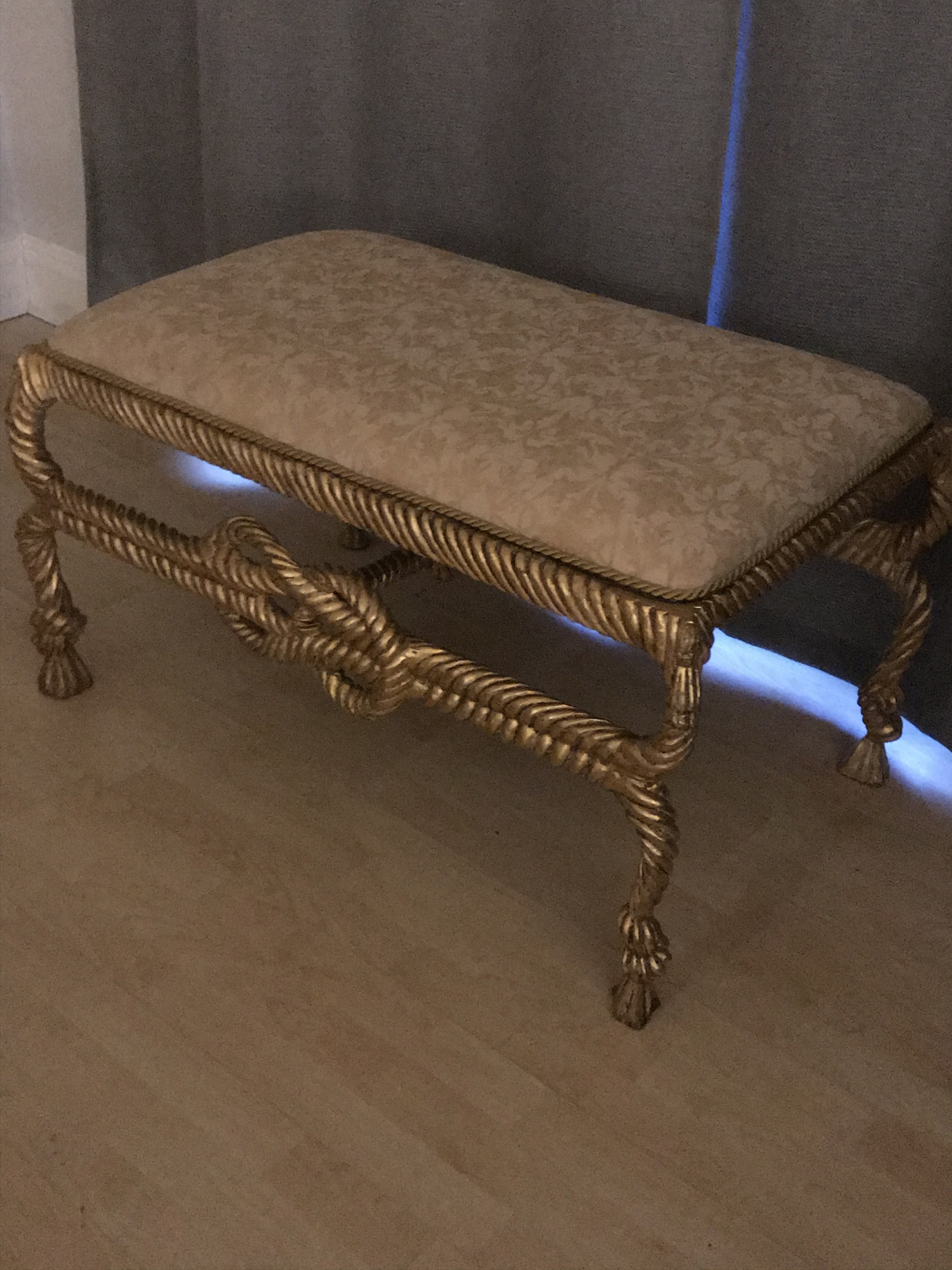 giltwood stool window seat after ame fournier