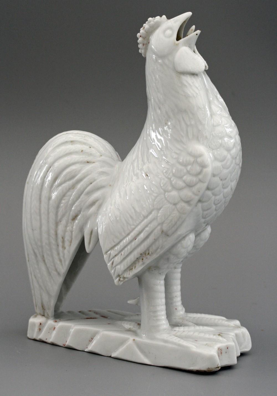 very rare chinese kangxi blanc de chine porcelain cockerel 16621722