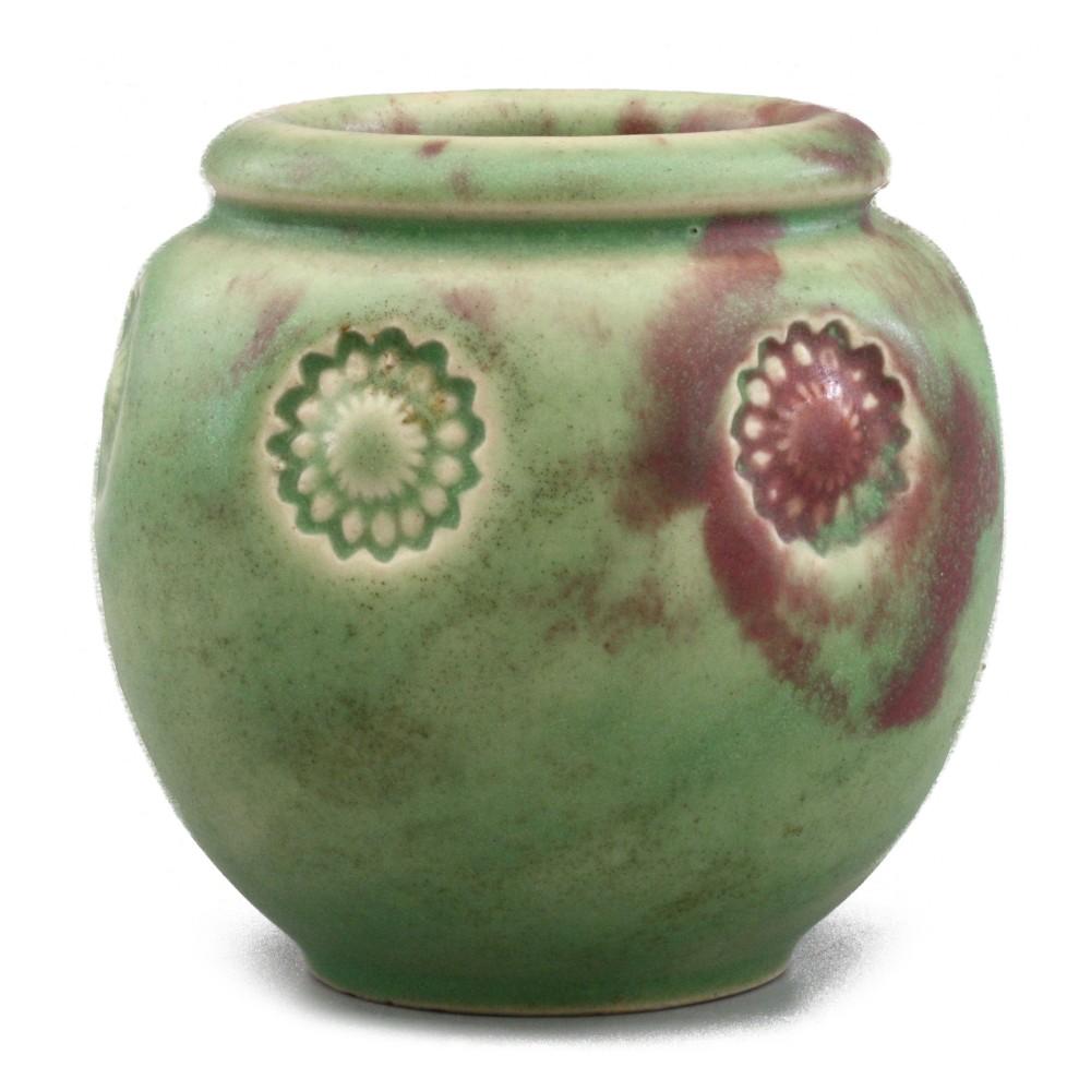 doulton lambeth art deco floral impressed vase c1925