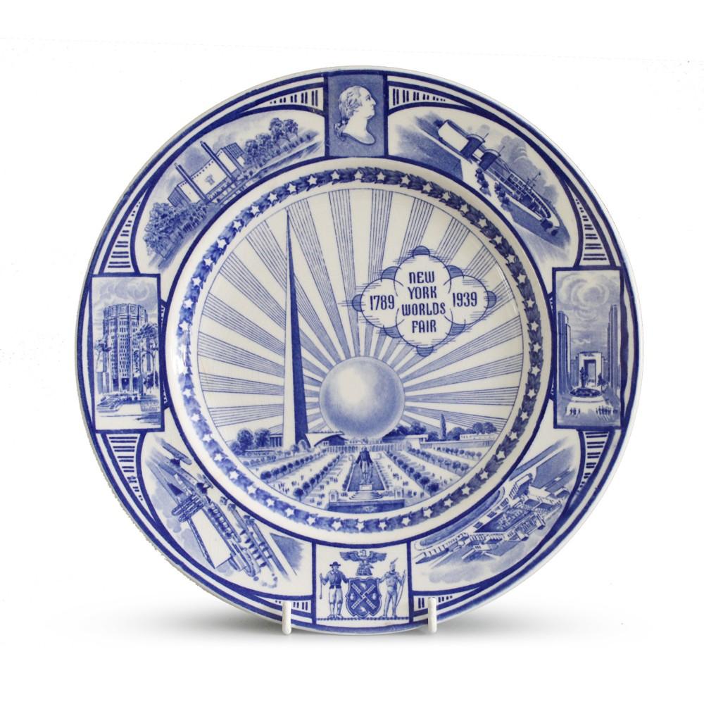 j g meakin new york worlds fair commemorative plate 1939