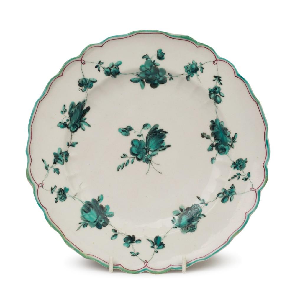 chelsea james giles en camaieu floral porcelain plate c1755