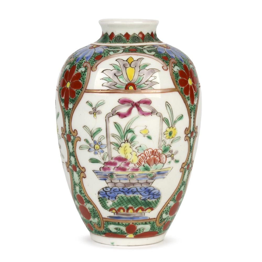 oriental possibly samson very fine hand painted porcelain vase
