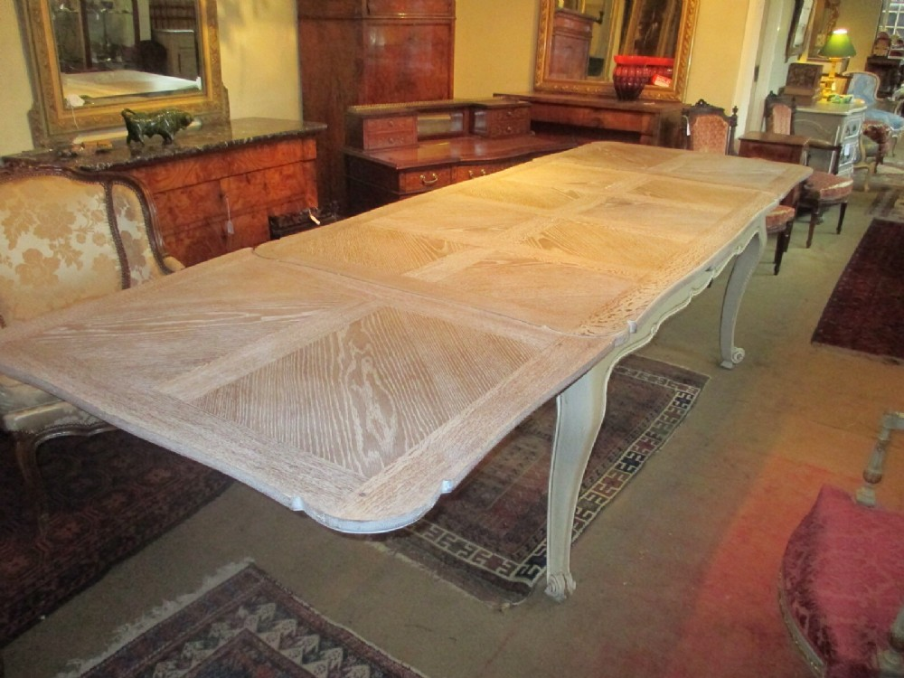 Very Large Limed Oak Extending Table Part 69