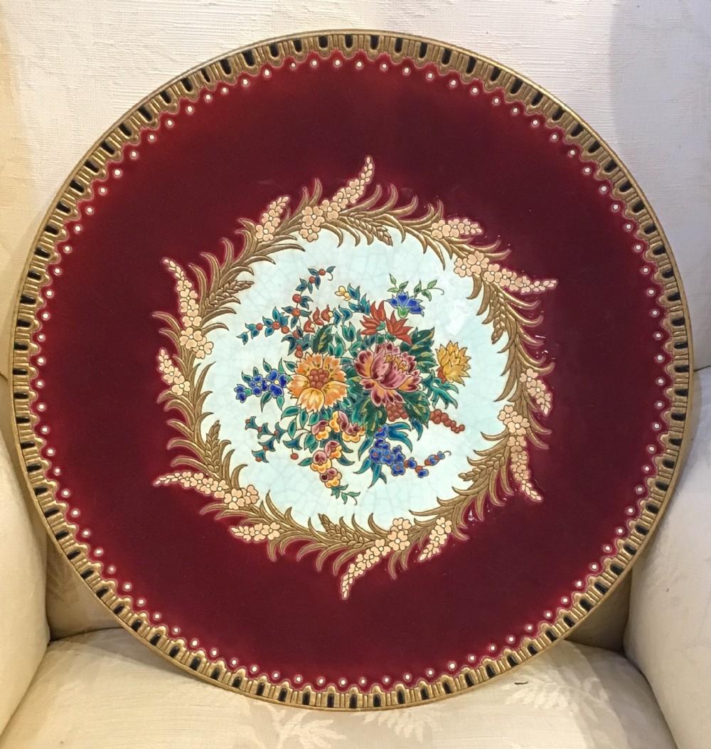 beautiful emaux de longwy plate