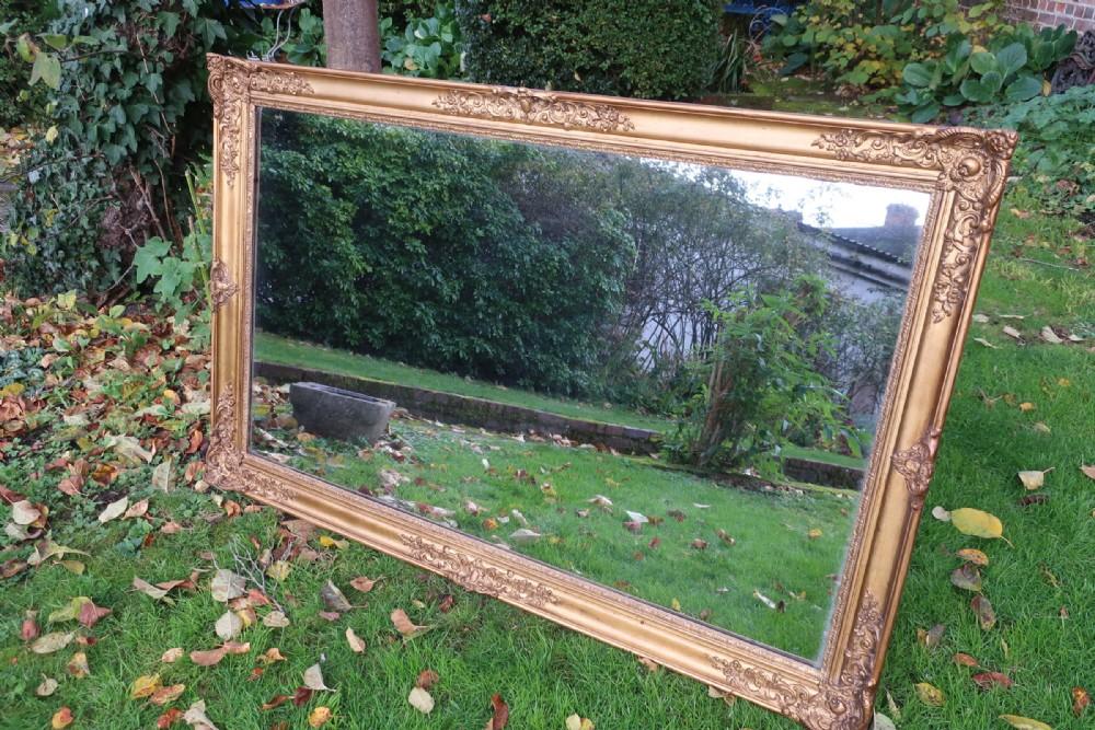large gilt landscape mirror