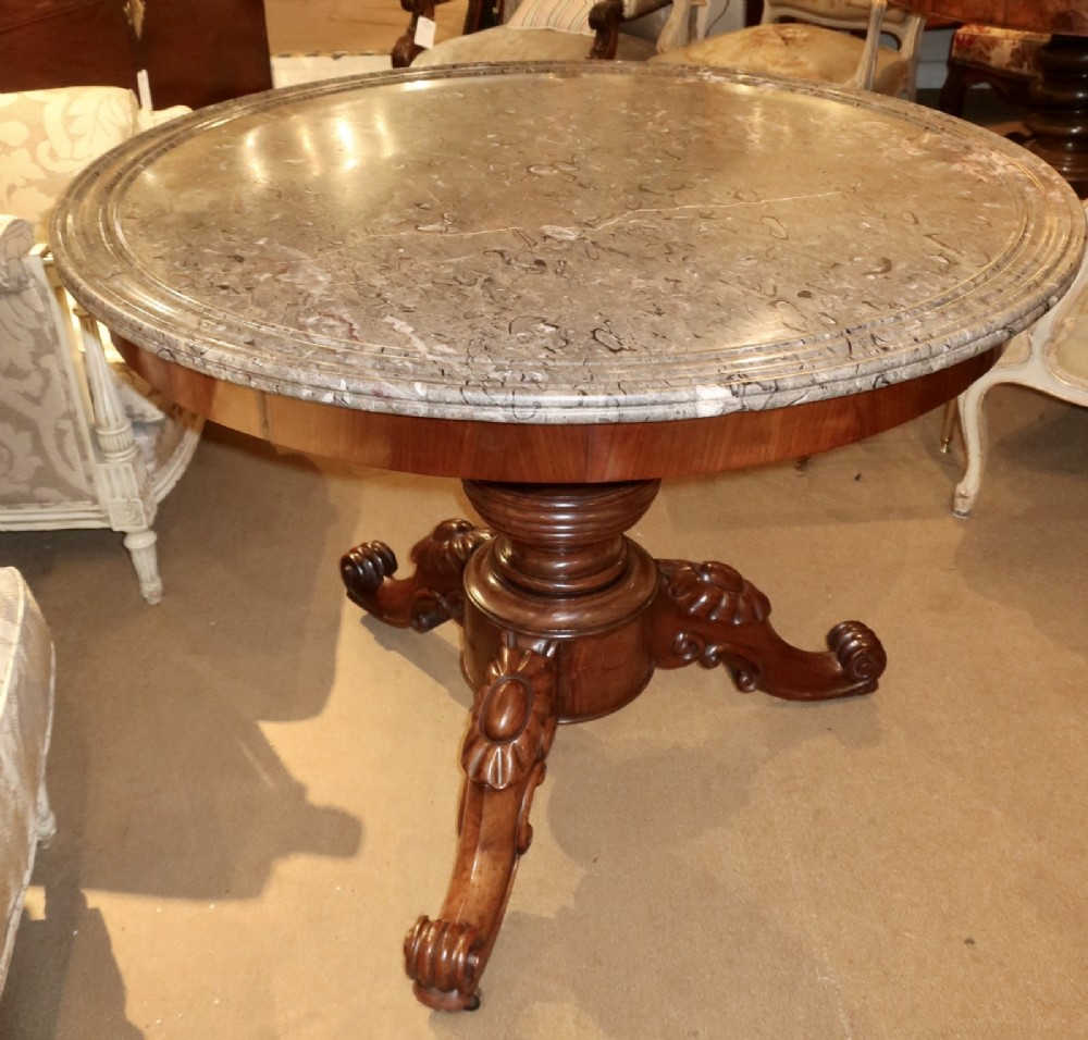 large marble topped centre table