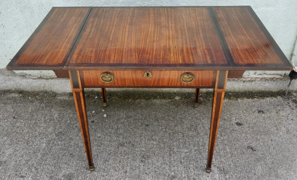 good satinwood drop flap pembroke table