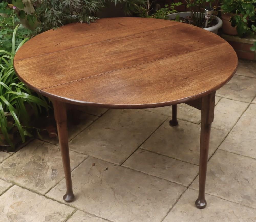 georgian mahogany pad foot dining table