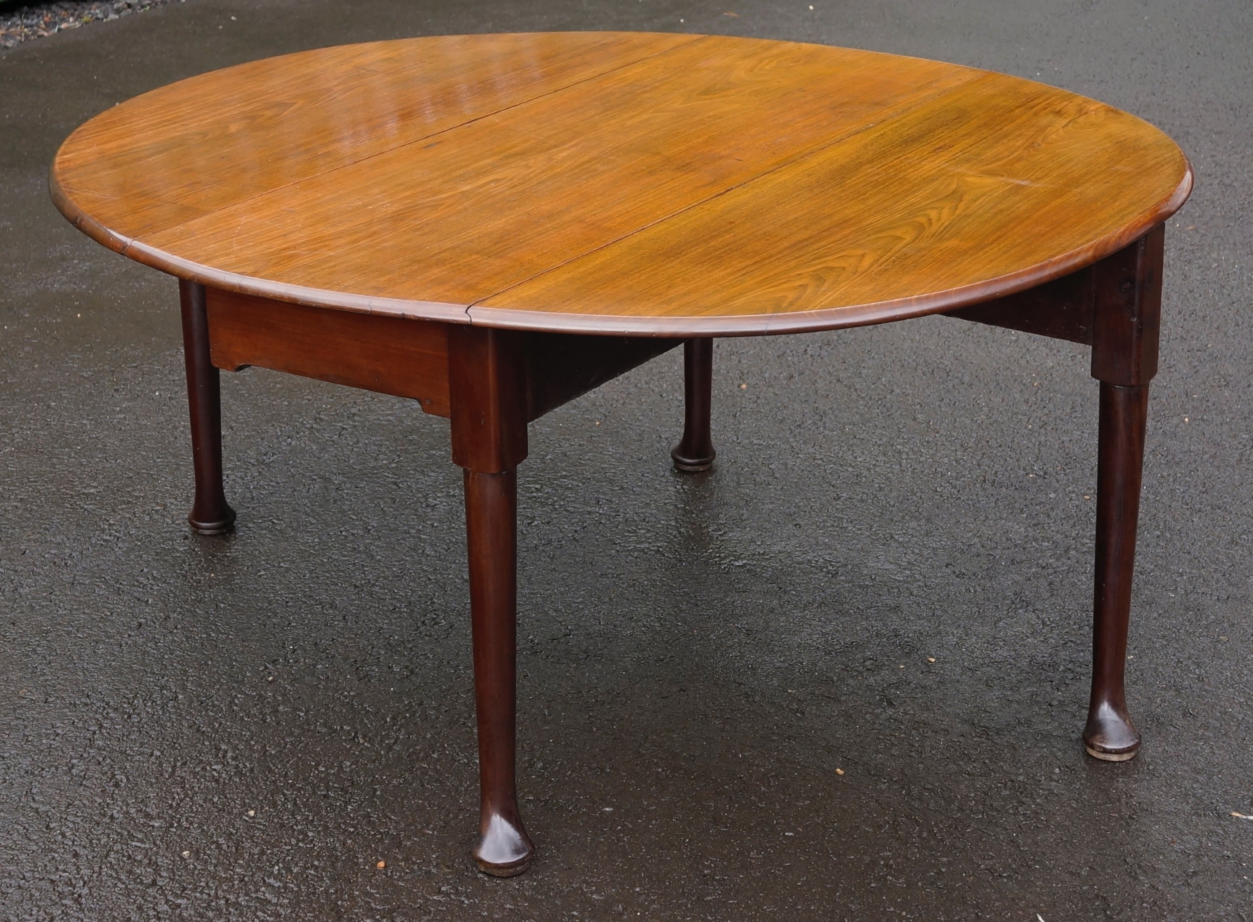 georgian 1760s mahogany oval pad foot drop leaf table a glorious colour