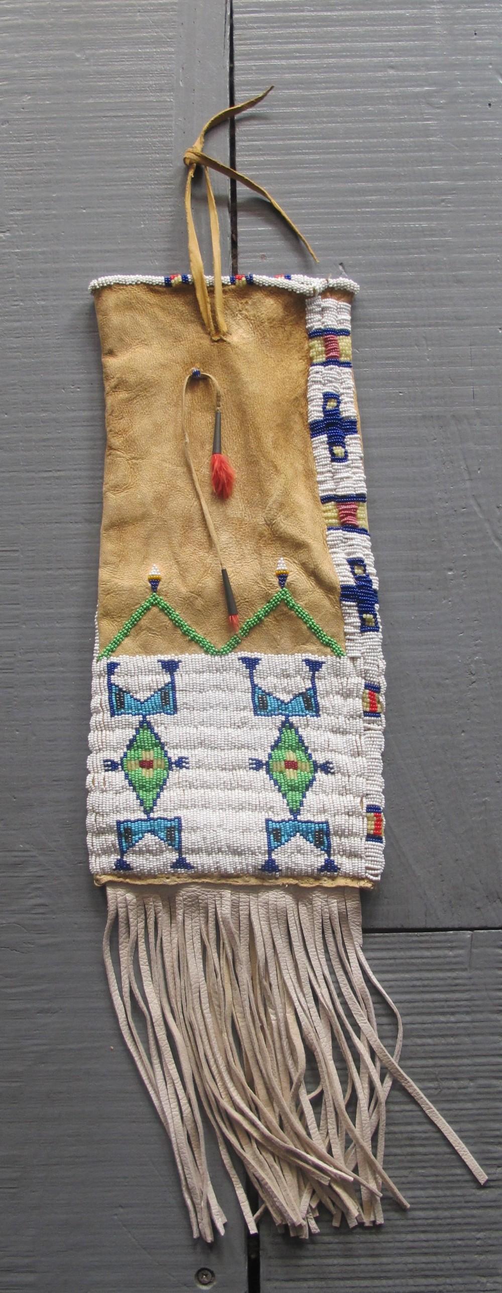 native american tobacco pouch