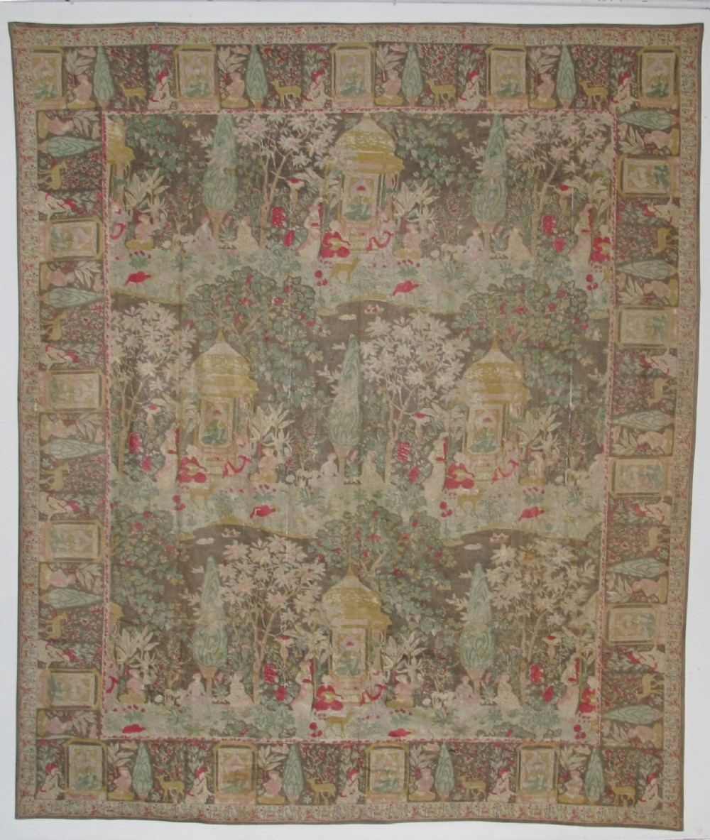 qajar block printed and painted textile persia mid19th century