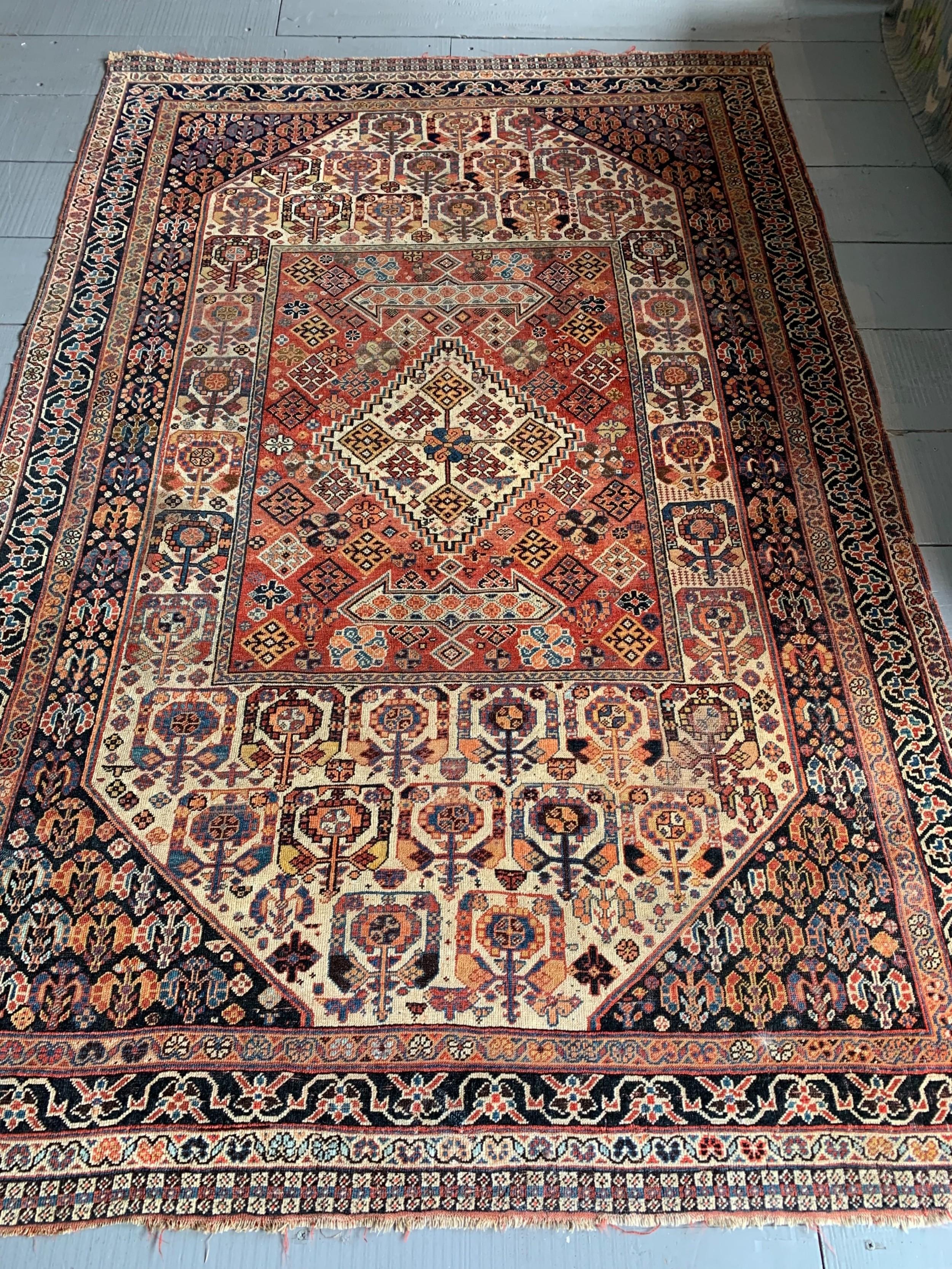persian tribal rug 235m x 156m