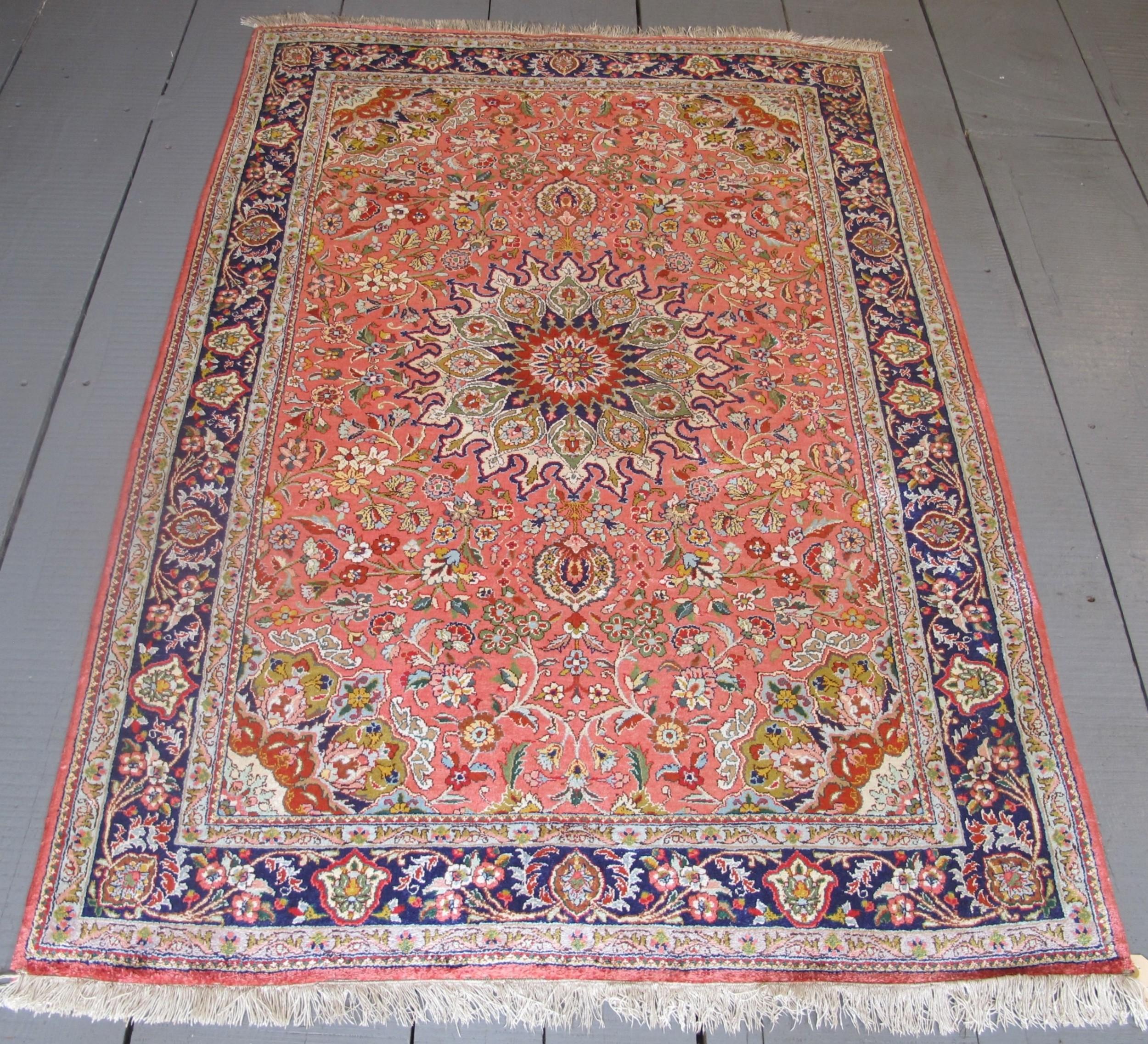 fine persian silk rug 155m x 103m