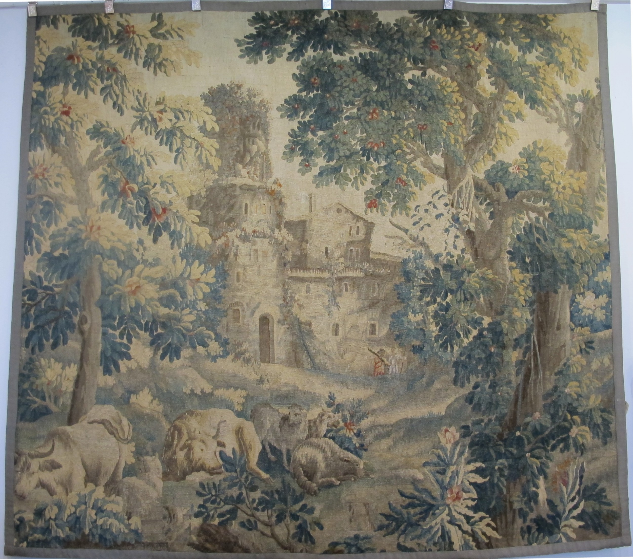 18th century french verdure tapestry
