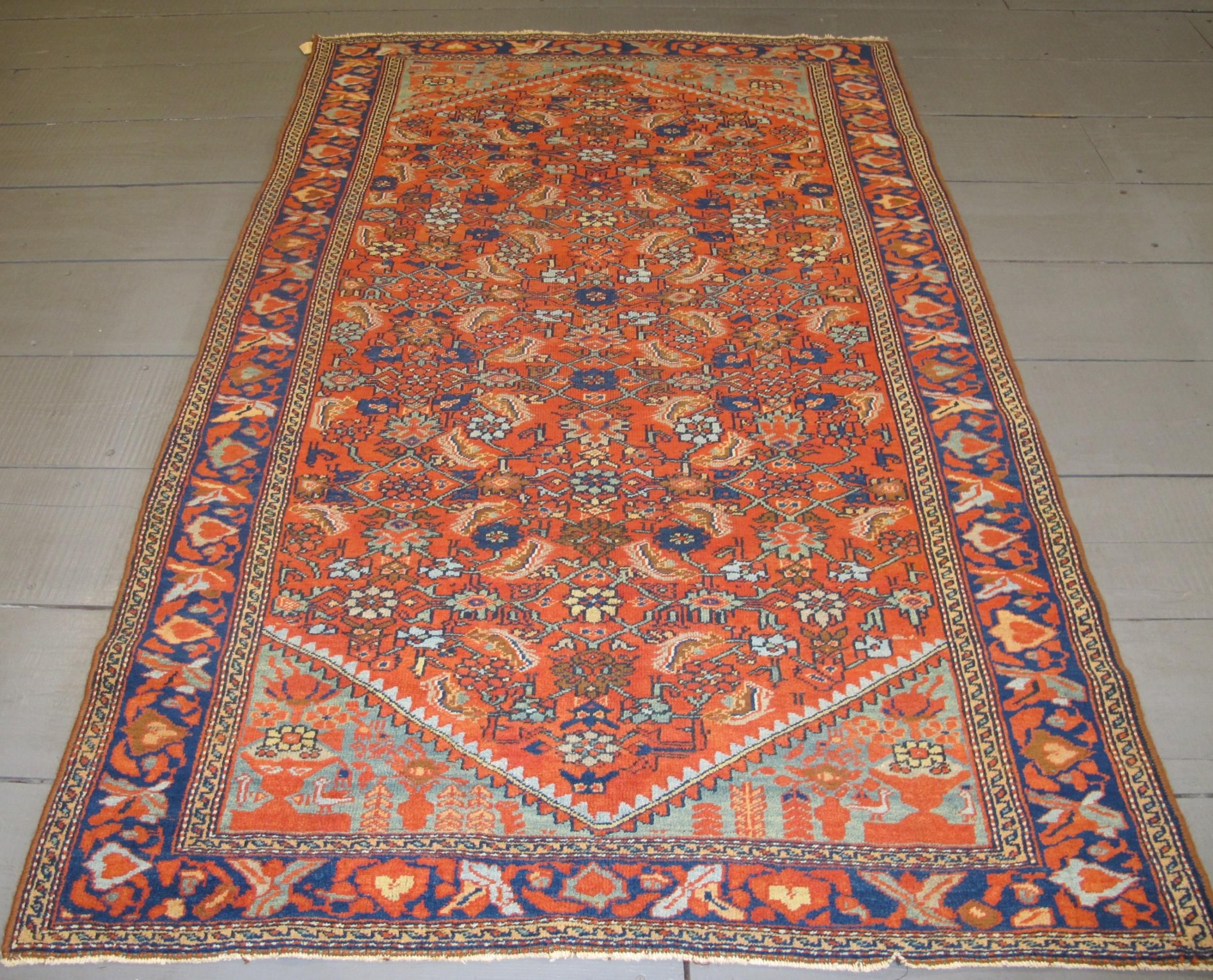 fine antique west persian rug 205m x 132m 6'9 x 4'3