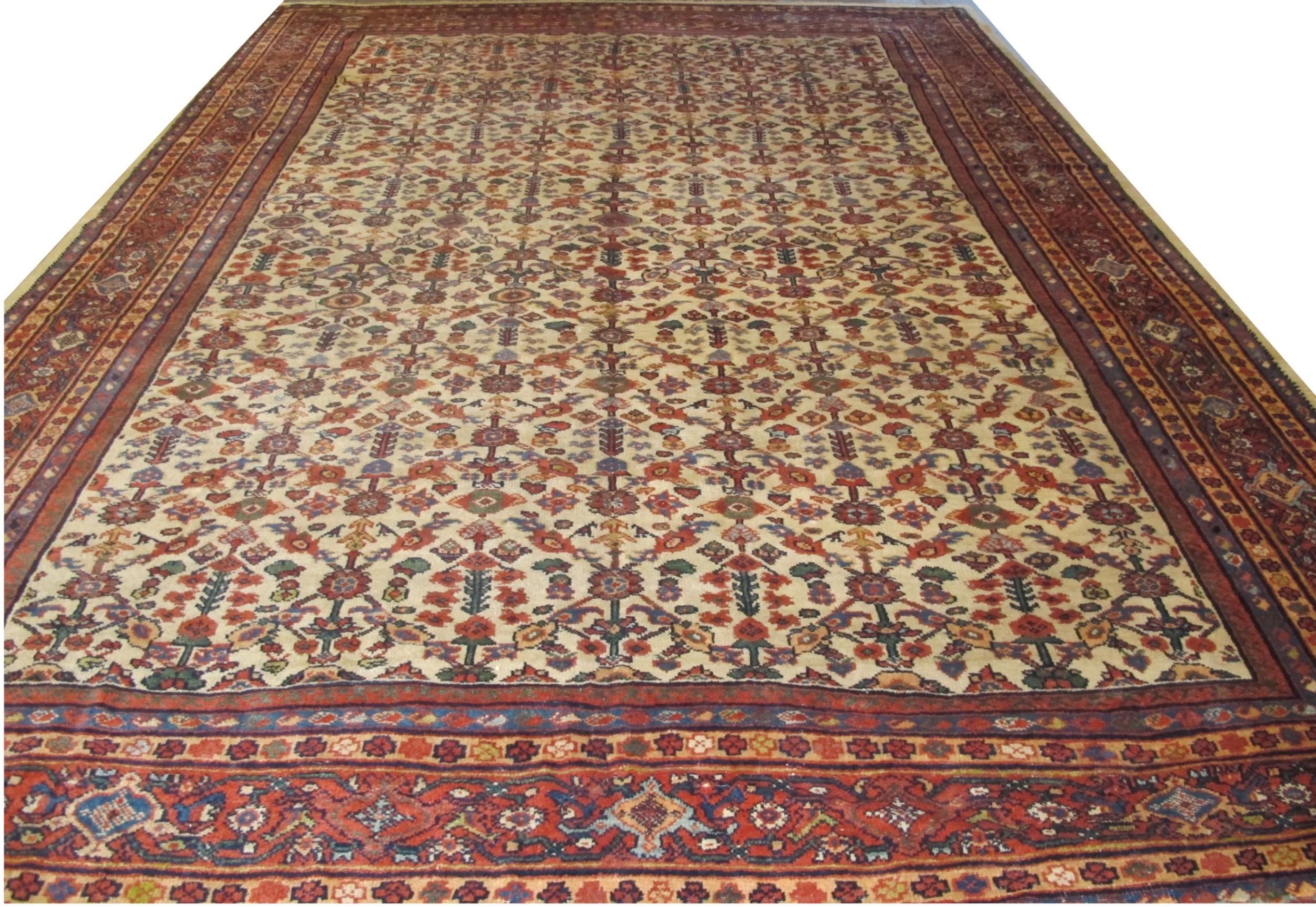 sultanabad carpet west persia circa 1880 14' 2 x 9' 11 432m x 302m