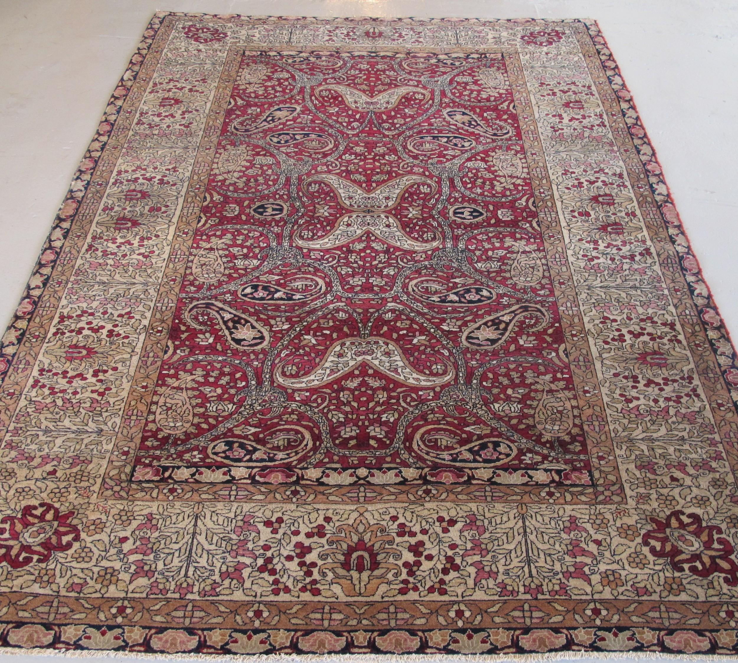fine isfahan rug central persia circa 1910 232m x 150m 7'8 x 4'11