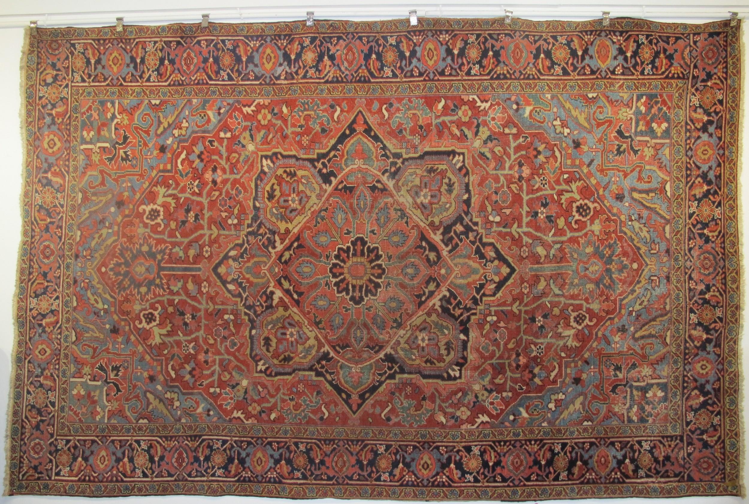 heriz carpet northwest persia circa 1890 360m x 237m 11'10 x 7'10