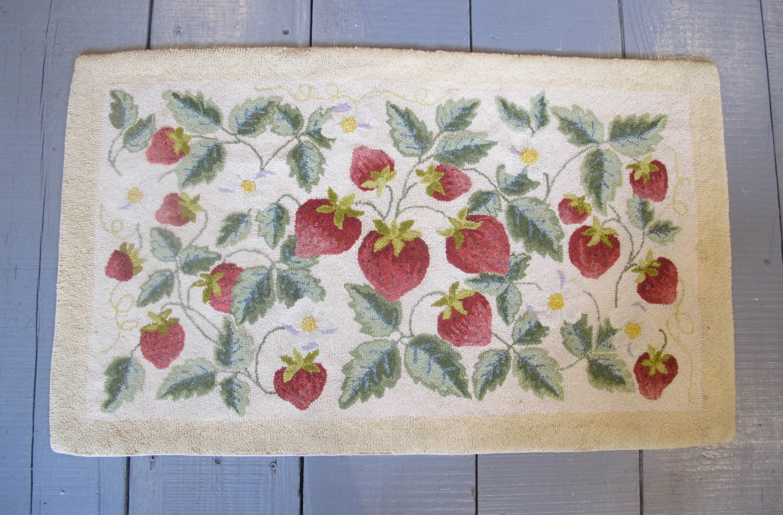 antique hook rug united states 100cm x 59cm 3'3 x 2'