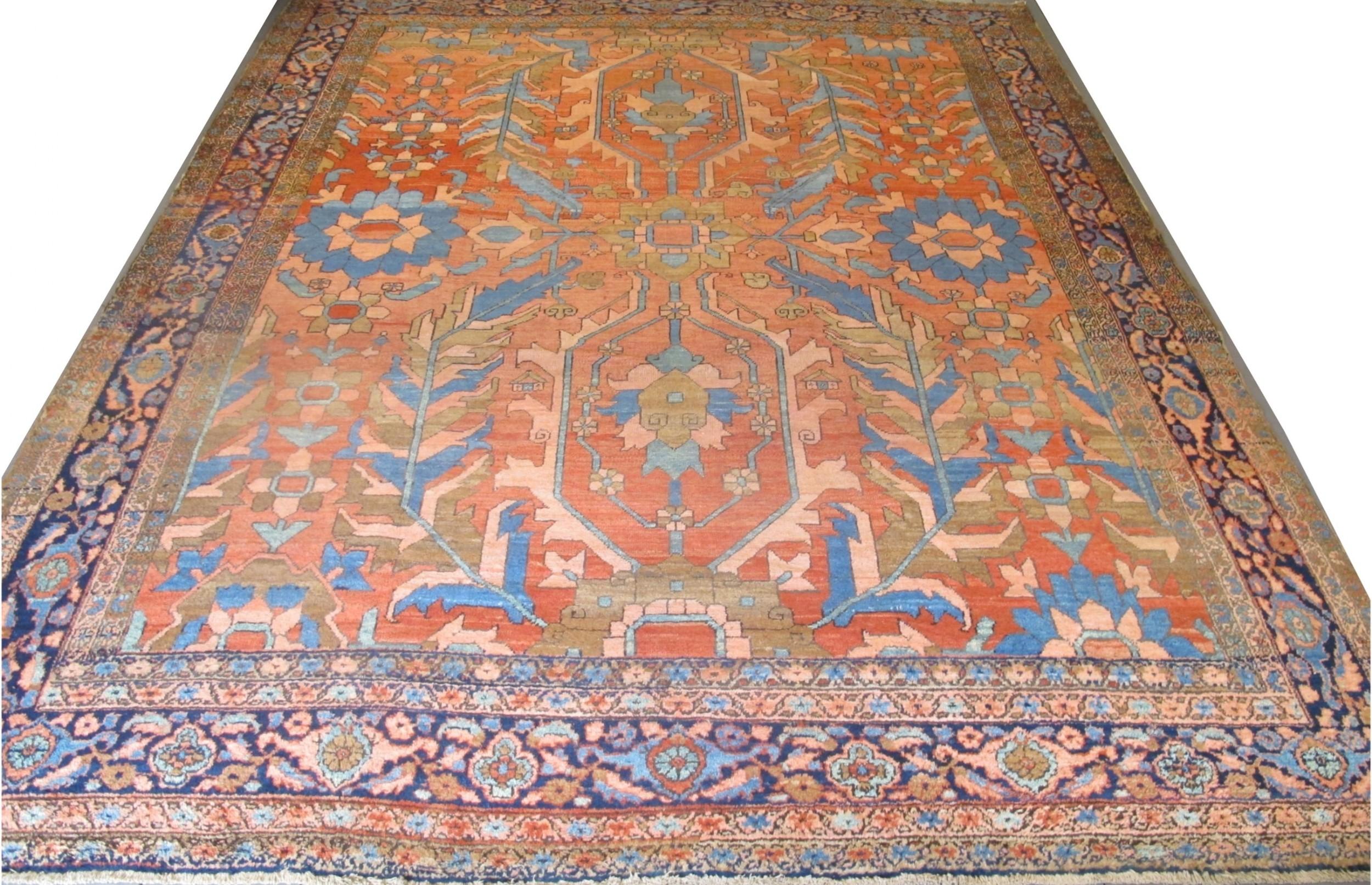 very decorative persian heriz carpet circa 1880