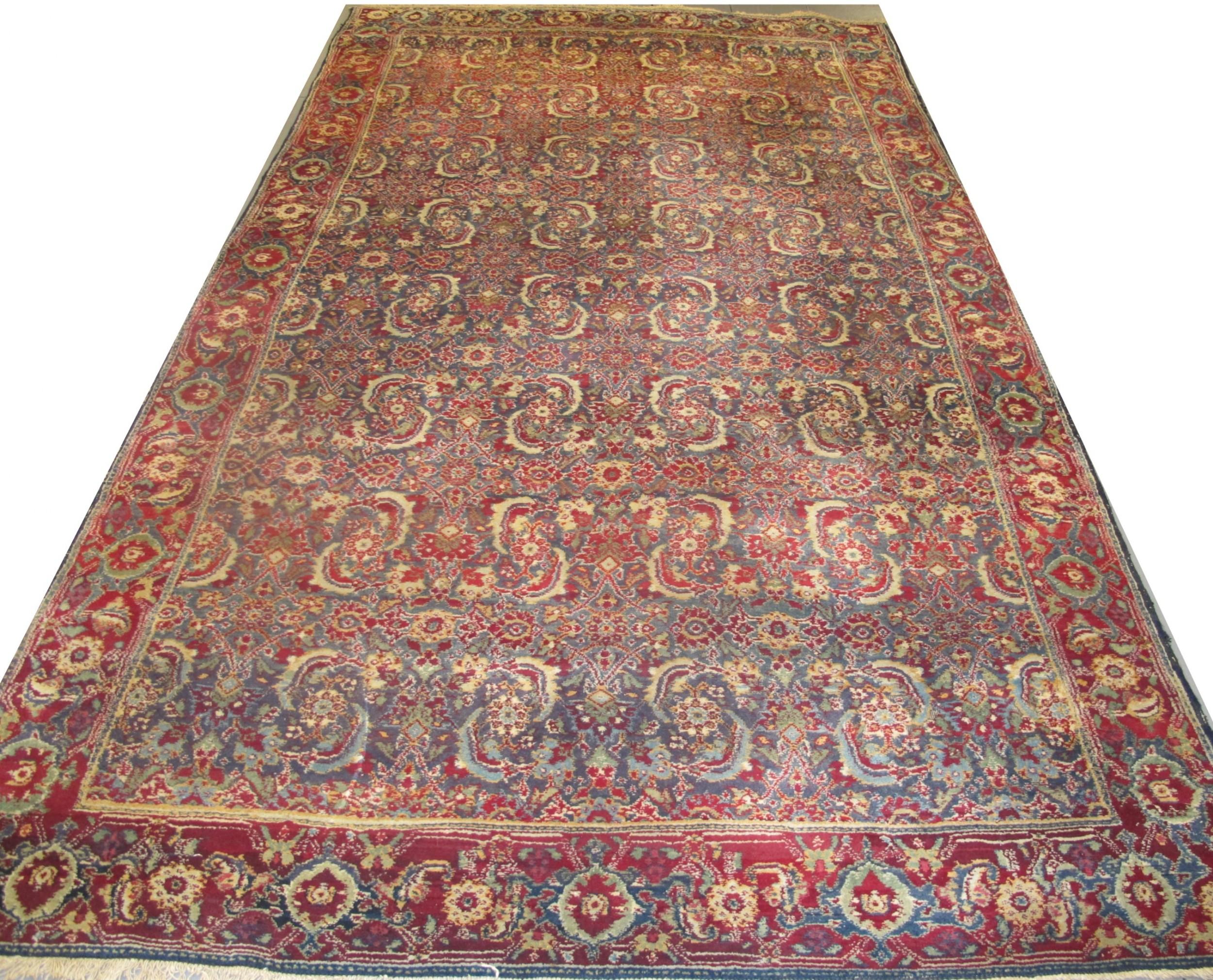 agra carpet 293m x 167m 9'8 x 5'5 circa 1890