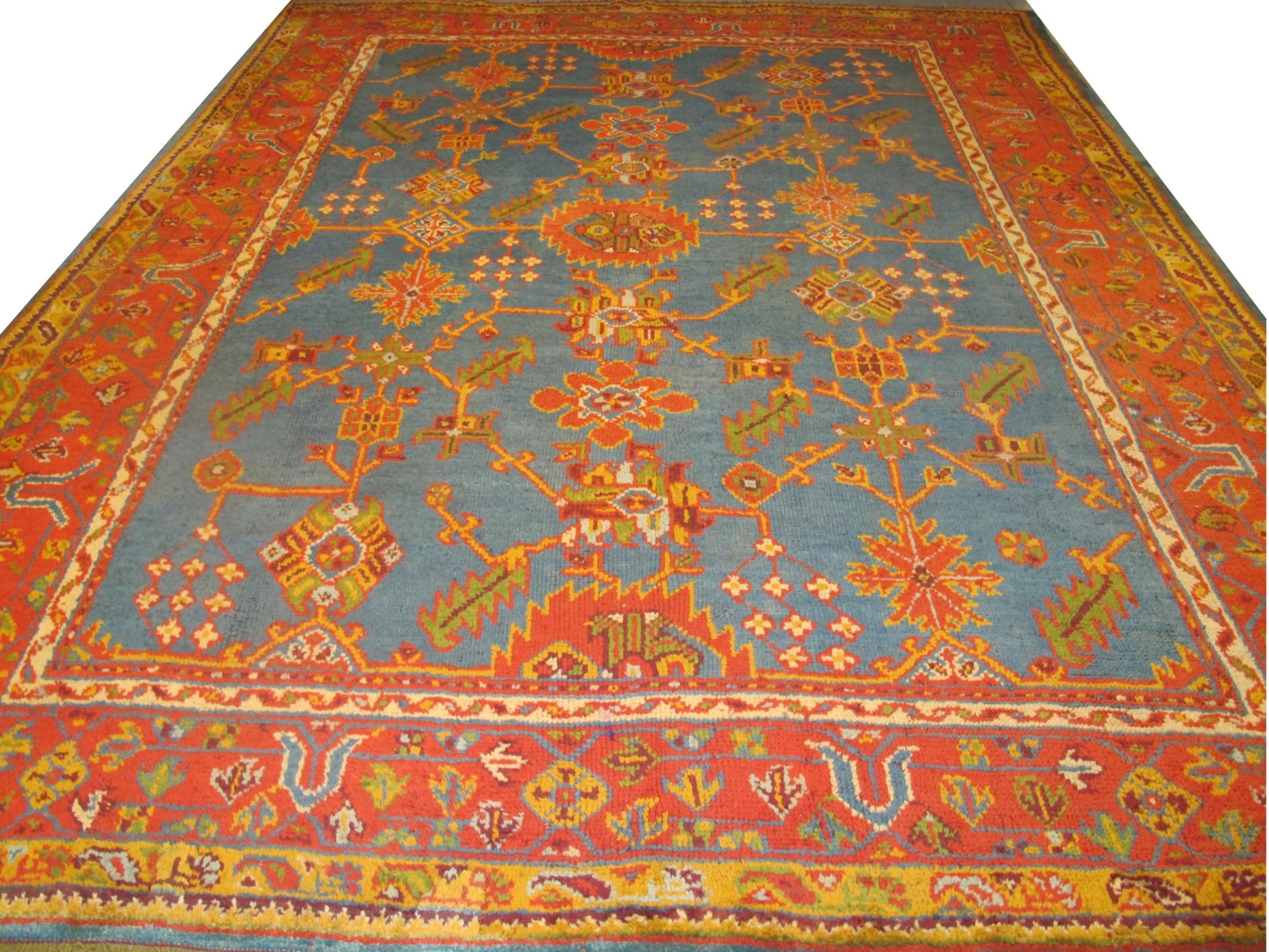 oushak carpet turkey 19th century 354m x 274m