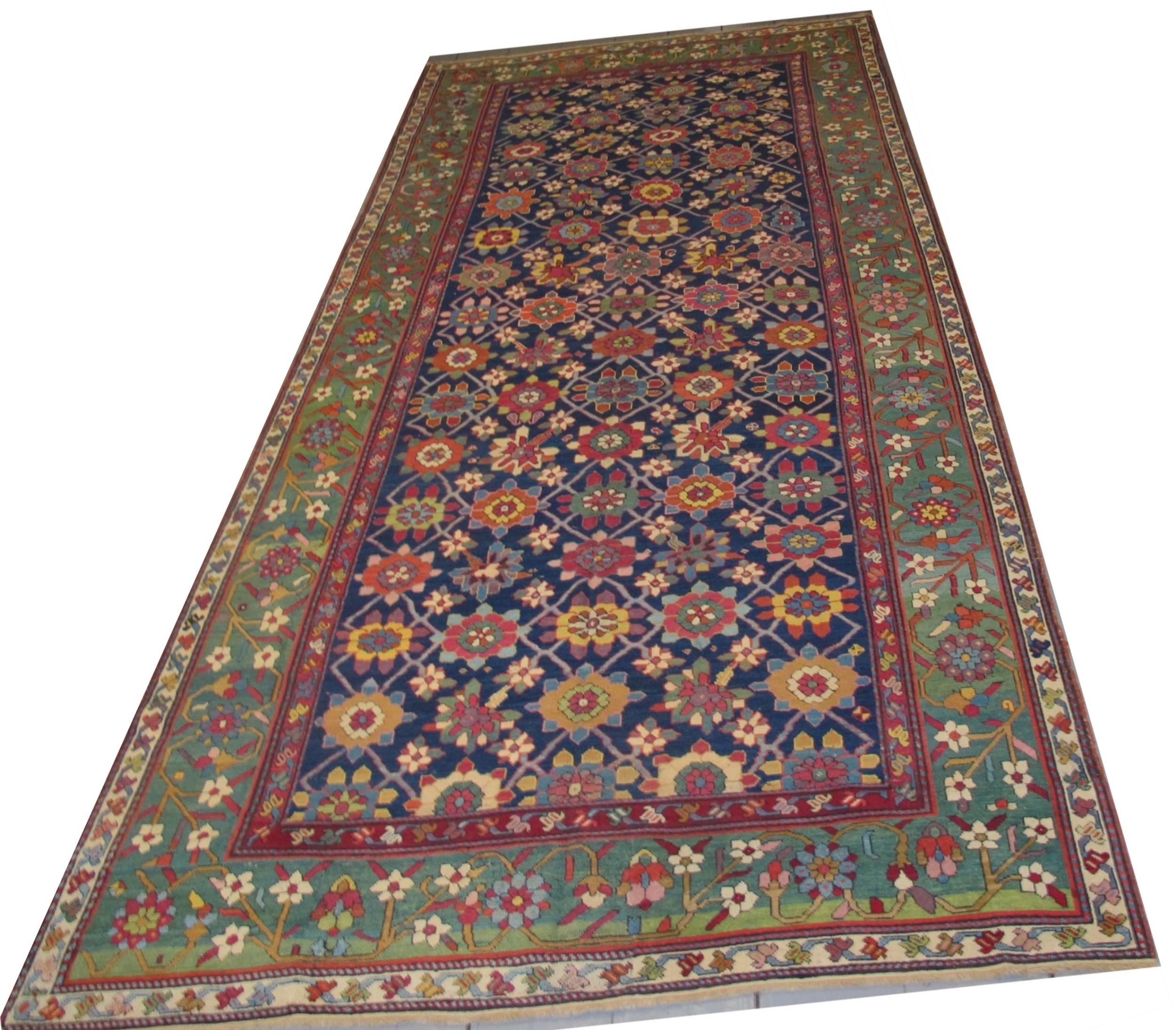antique karabagh carpet caucasus circa 1820 473m x 206m