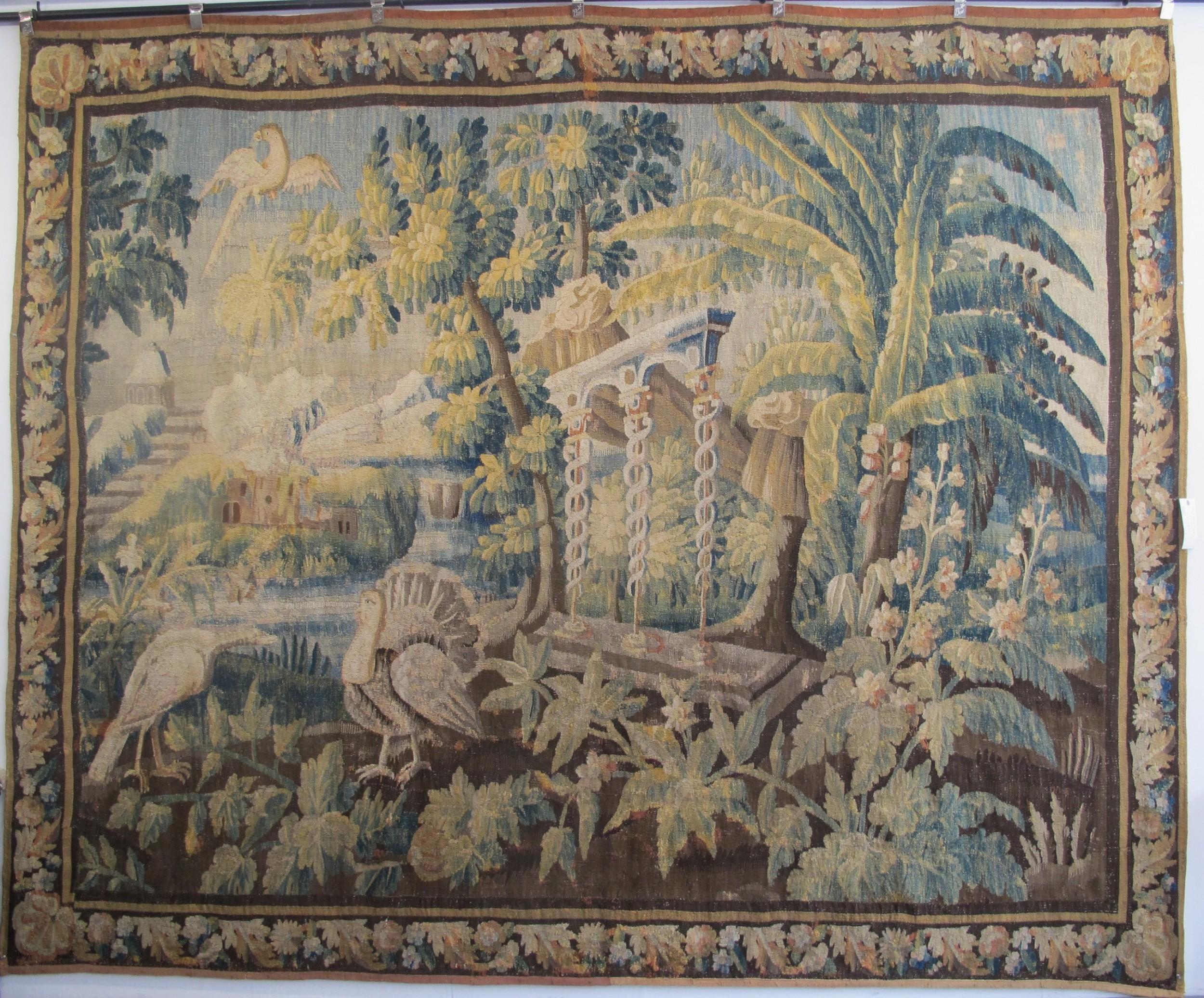 french verdure tapestry circa 1720 257m x 318m