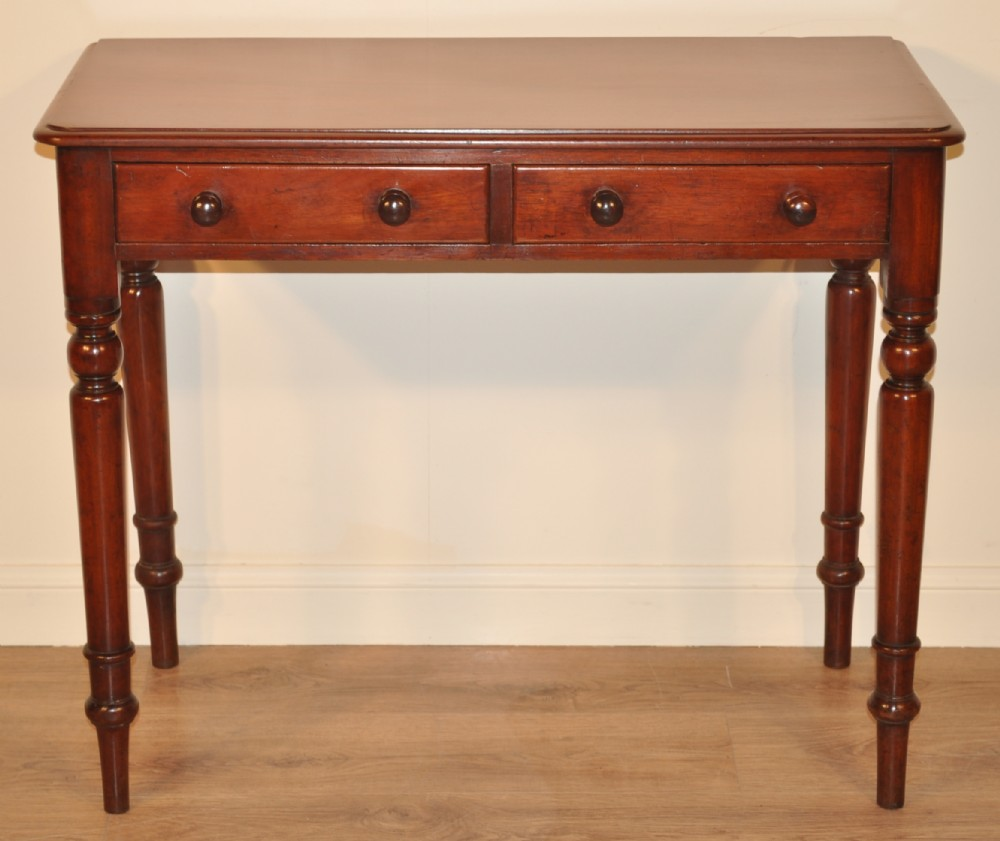 Attractive antique victorian mahogany 2 drawer occasional for Occasional table with drawers