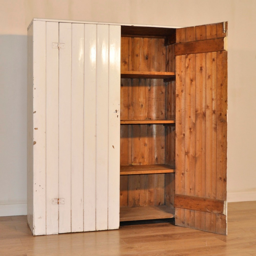 Attractive Vintage Rustic Painted Pine Pantry Country