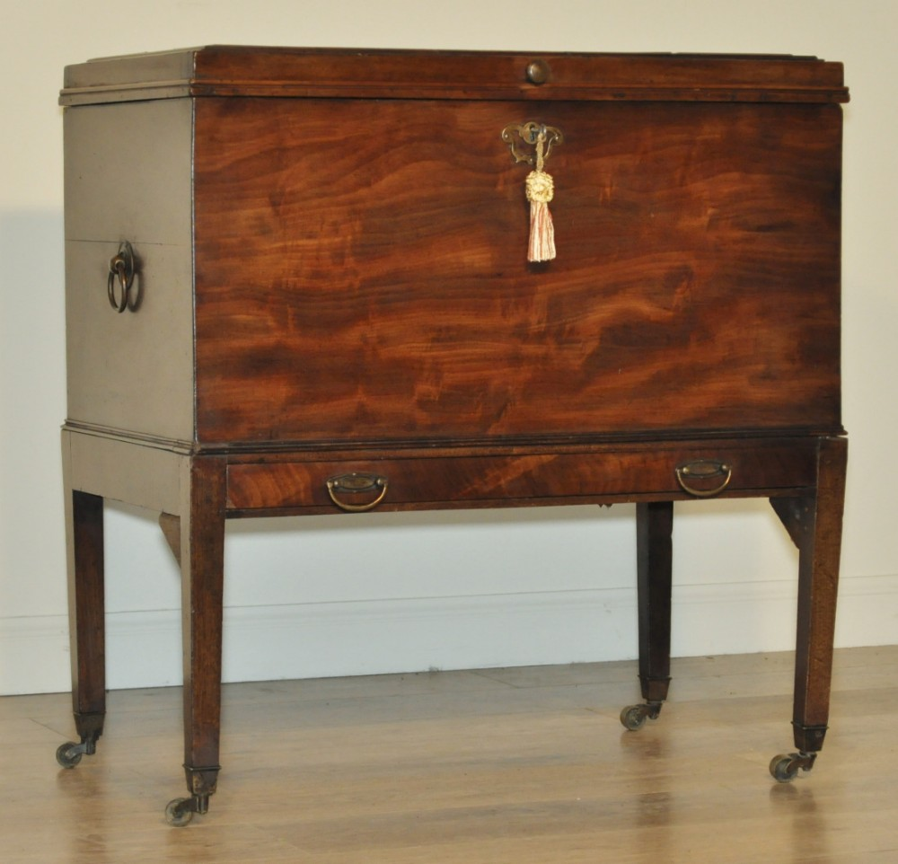 attractive antique victorian mahogany converted cellarette chest with drawer
