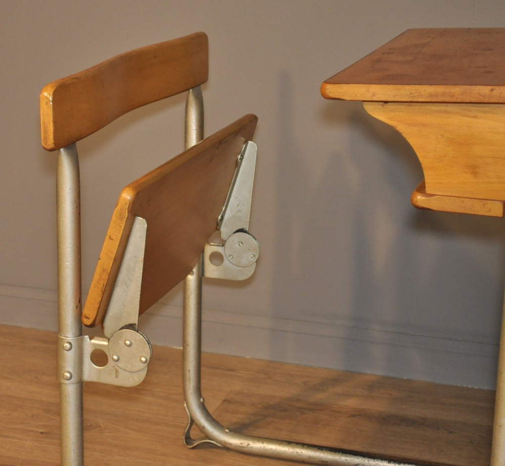 lovely vintage rustic james bennet glasgow child's school single desk