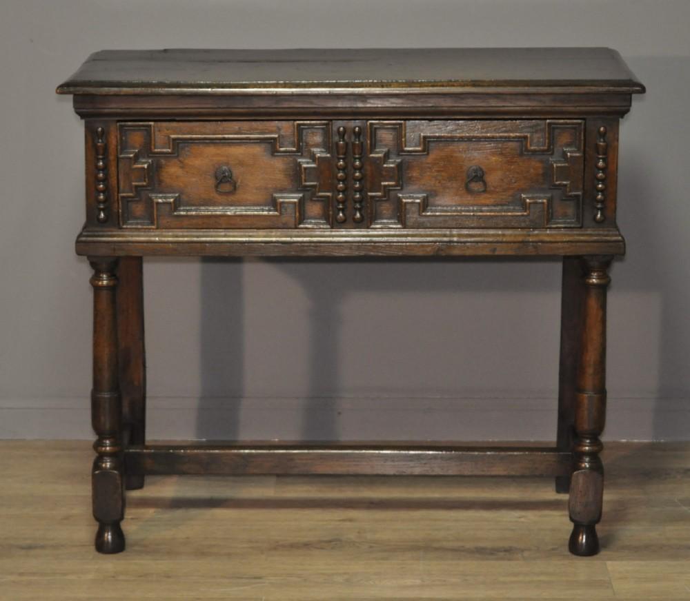 attractive small antique victorian oak dresser sideboard