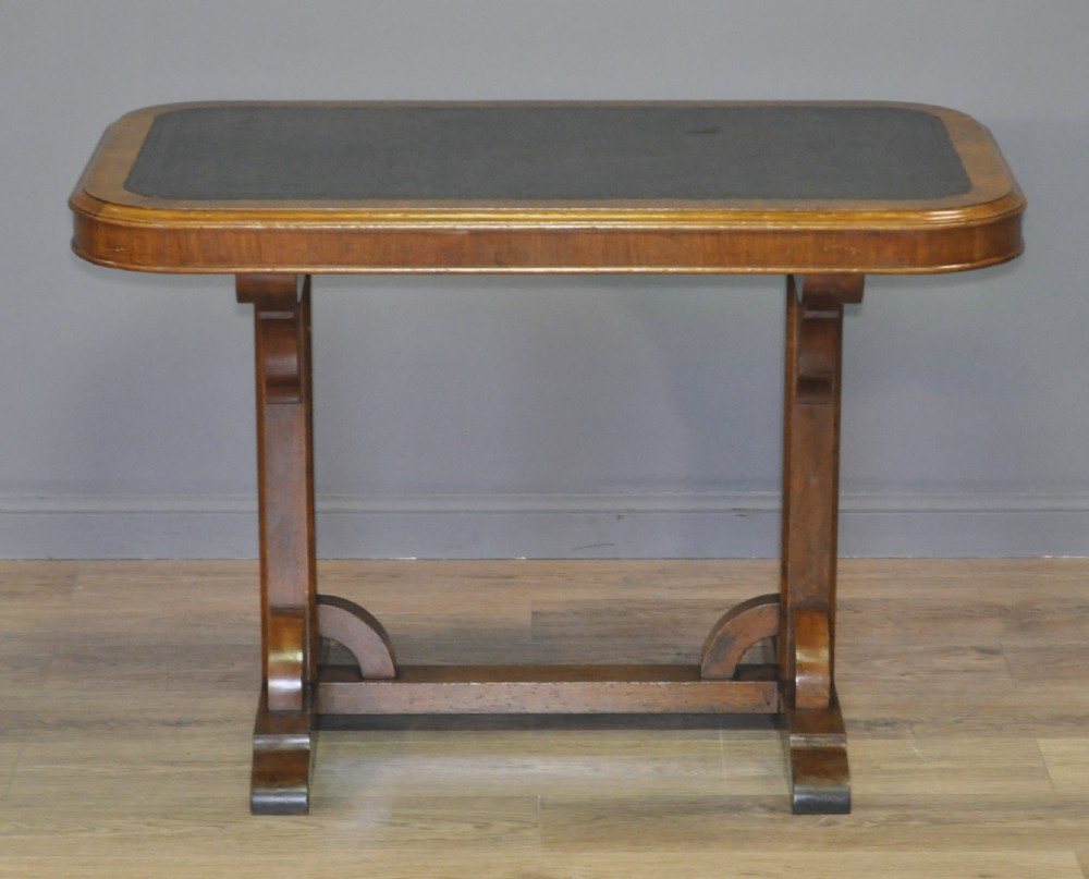 lovely antique victorian carved walnut arts crafts hall writing library table