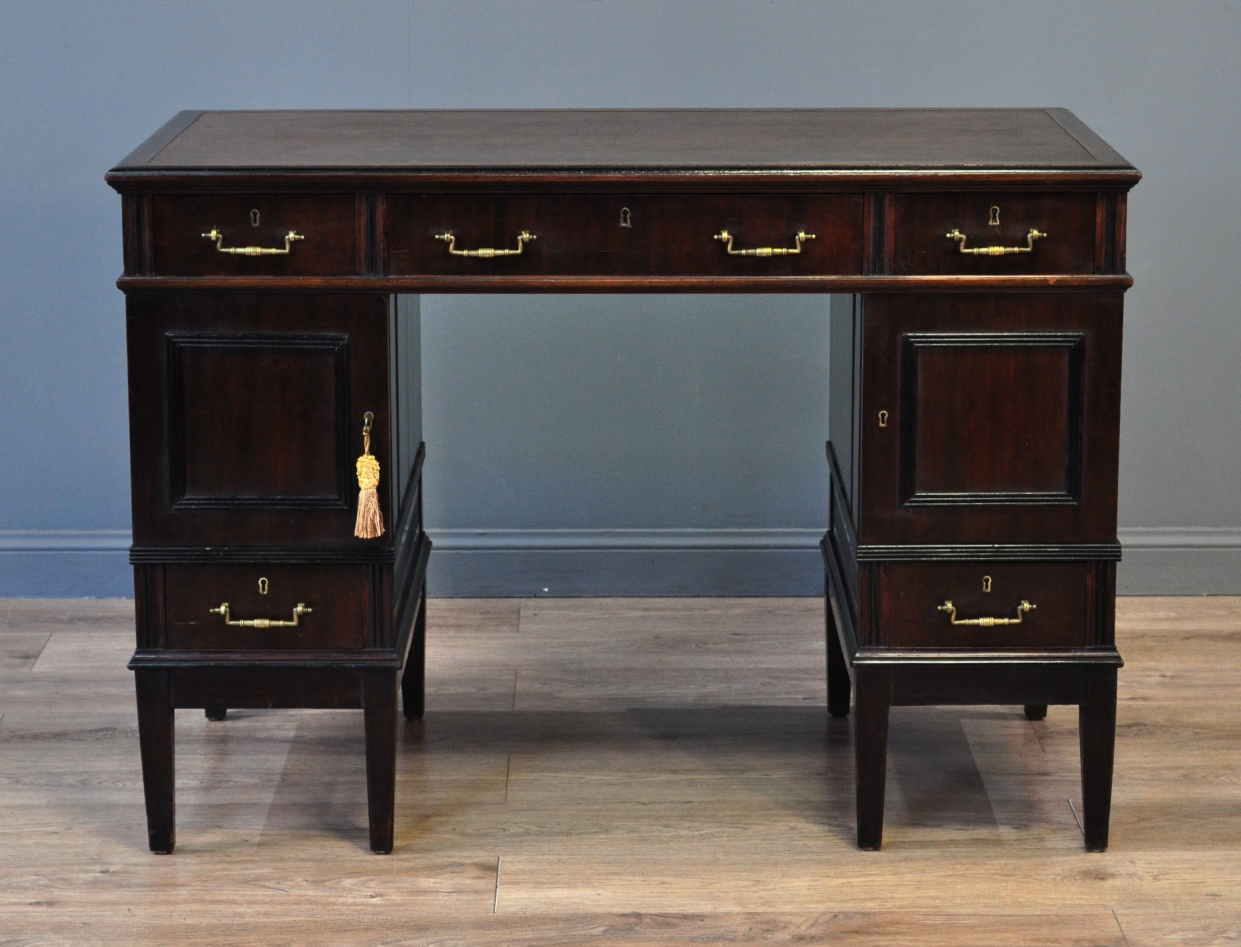 attractive small antique edwardian mahogany writing office desk
