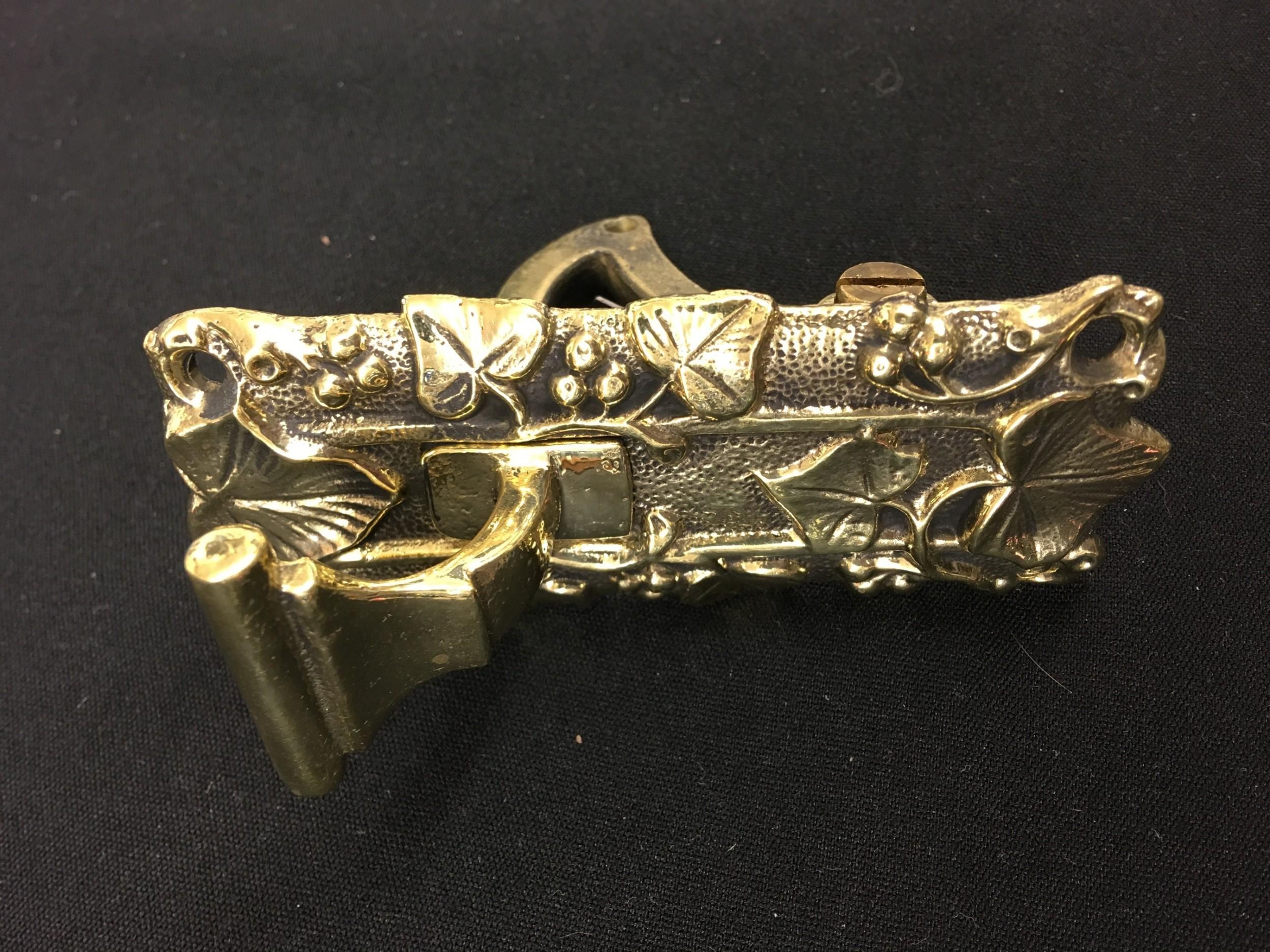 brass victorian door bell pull