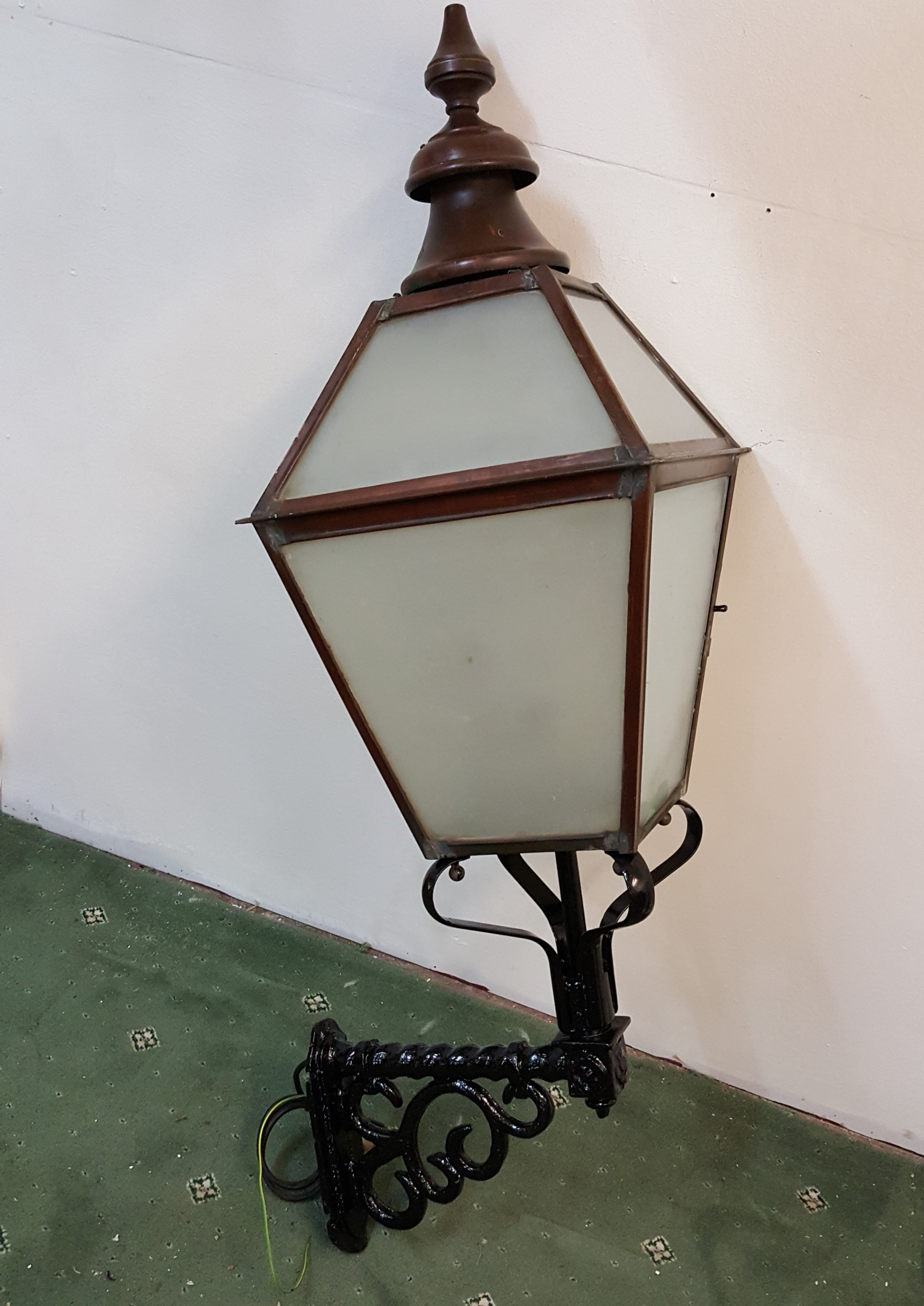 victorian copper outside lantern