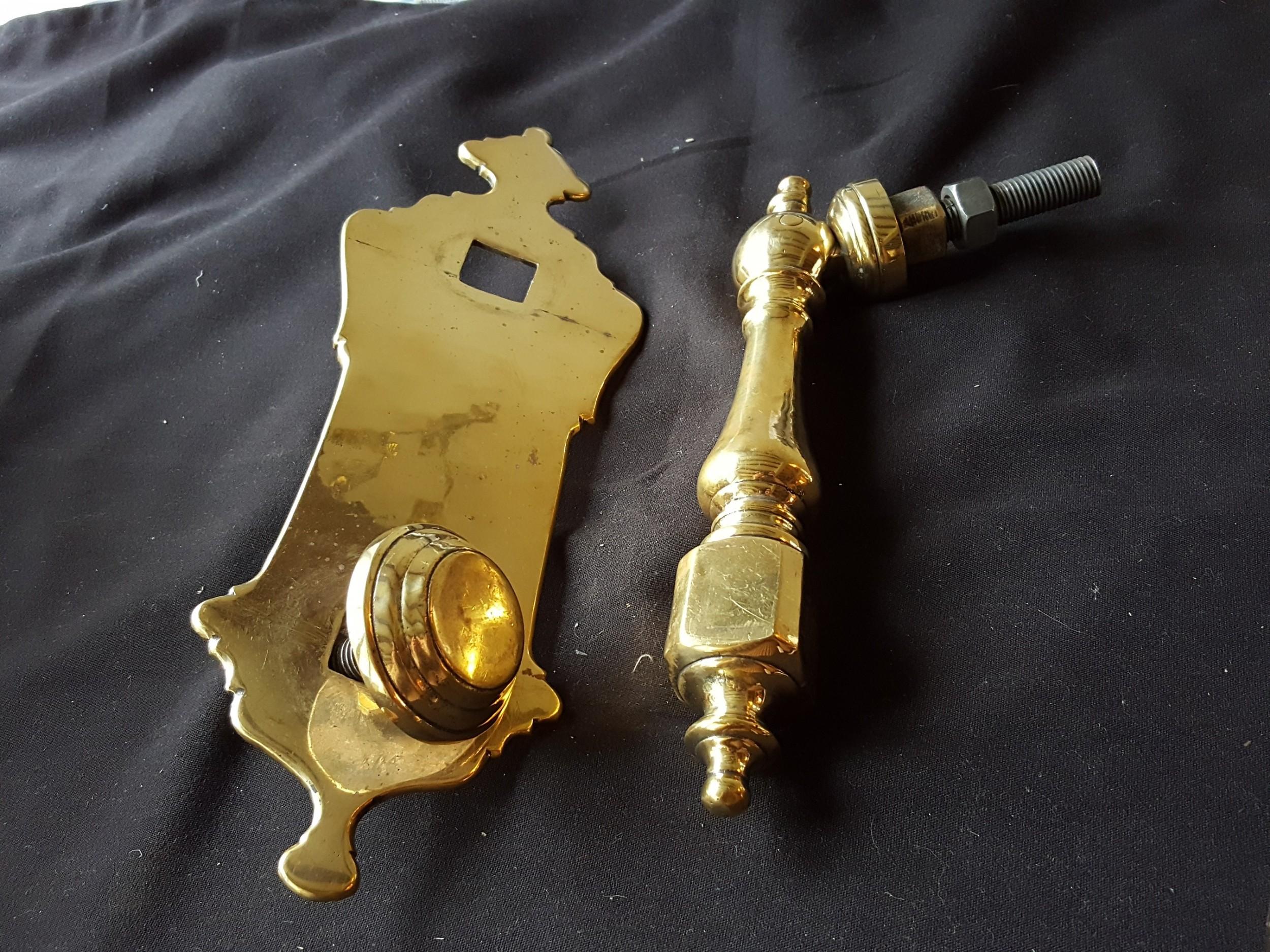 very rare large 14 victorian brass complete door knocker