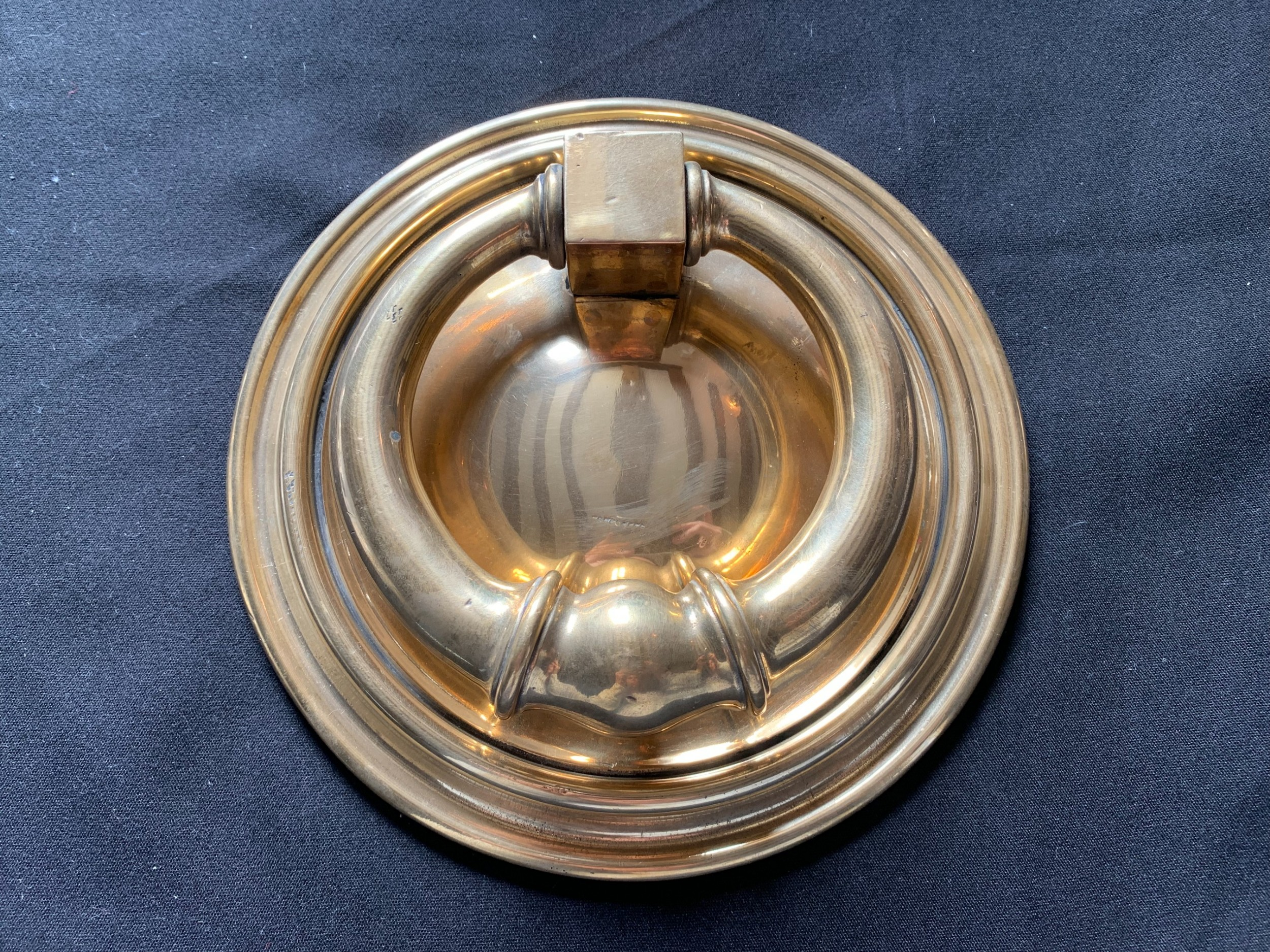 one large brass georgian door knocker