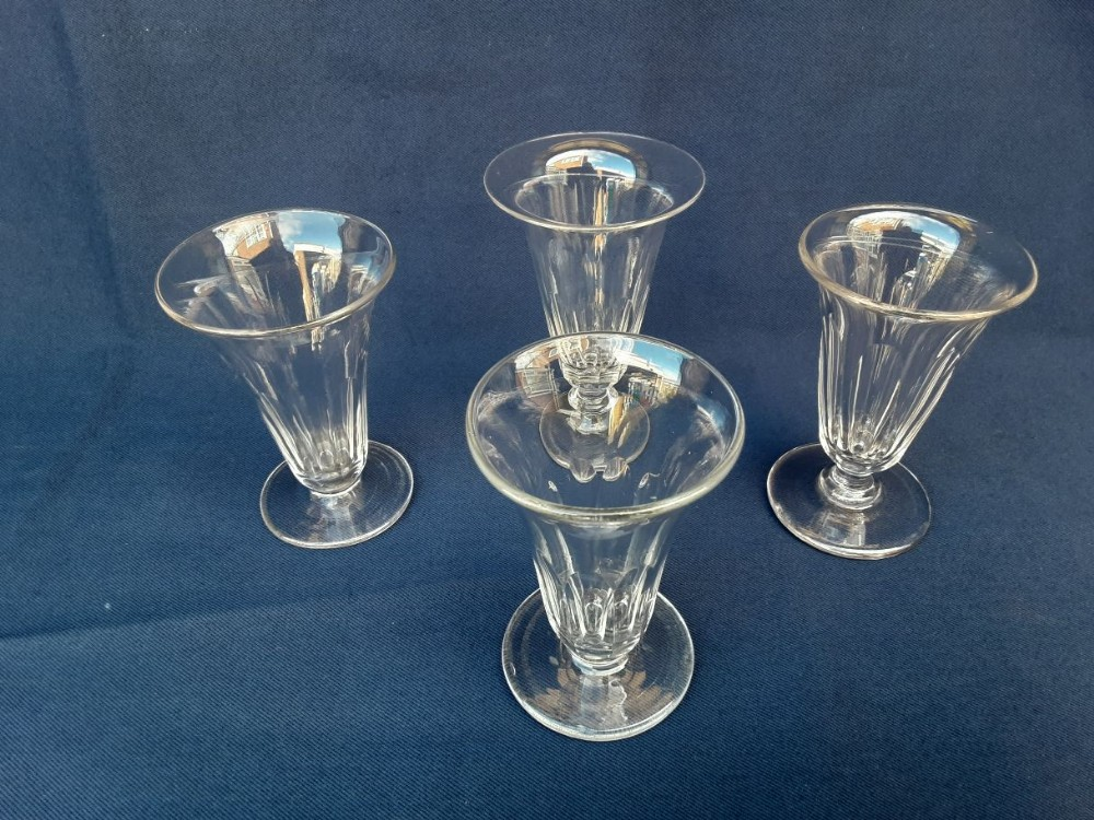 four 19thcentury jelly glasses