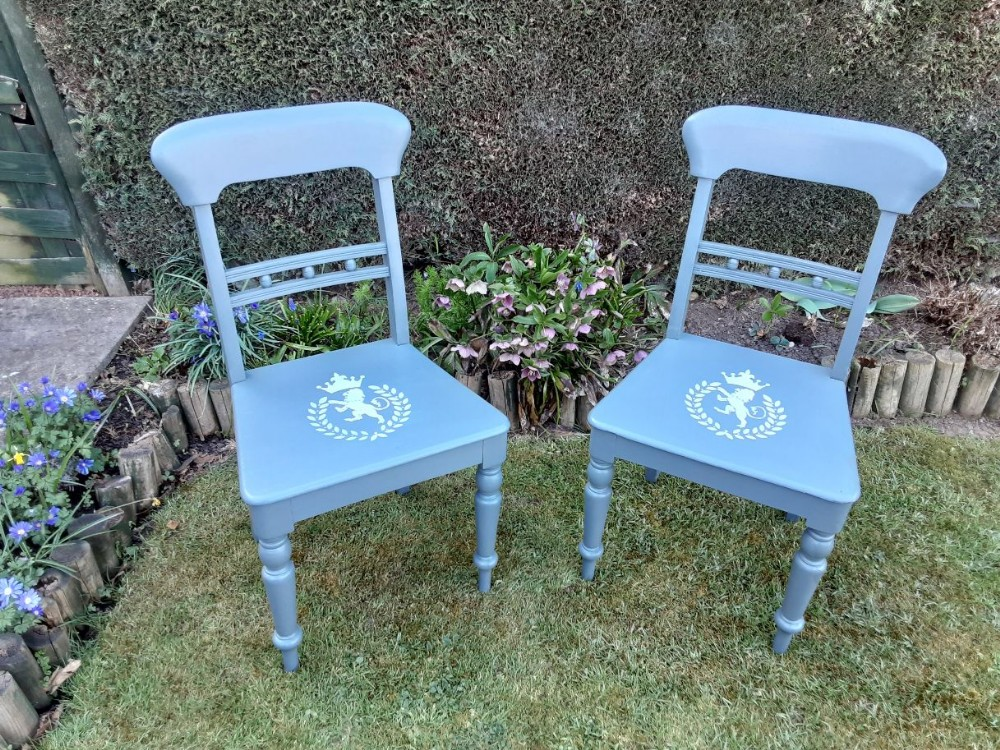 pair of 19th century painted chairs
