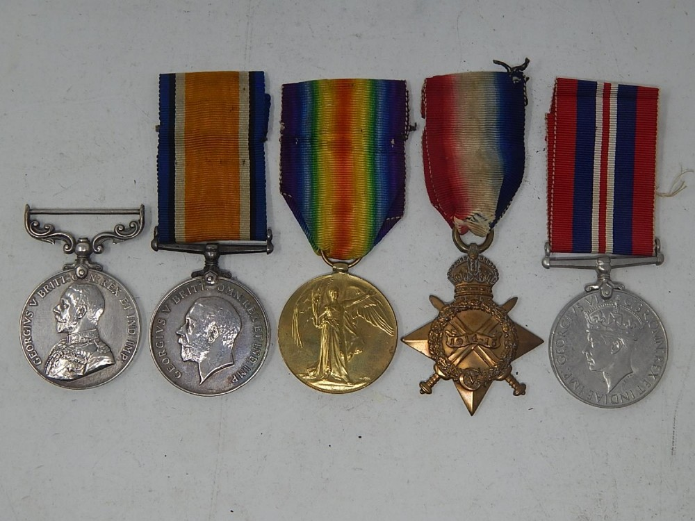 wwi military medal group including bravery in the field medal