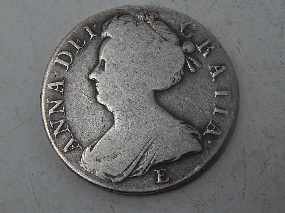 queen anne silver crown 1708