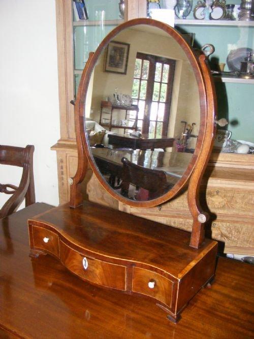 george iii sheraton oval toilet mirrors