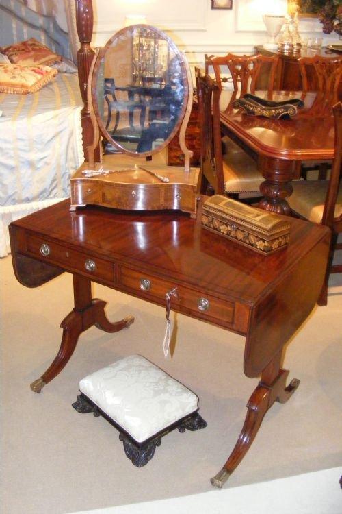 smart regency mahogany sofa table