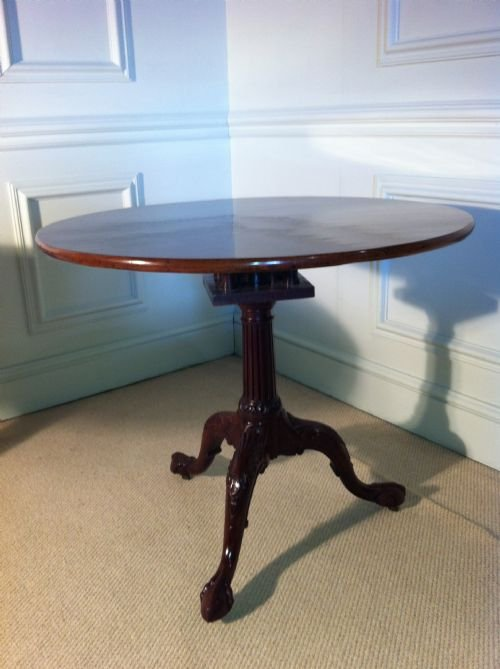 18th century fabulous decorative birdcage tip top george iii mahogany circular ocassional table